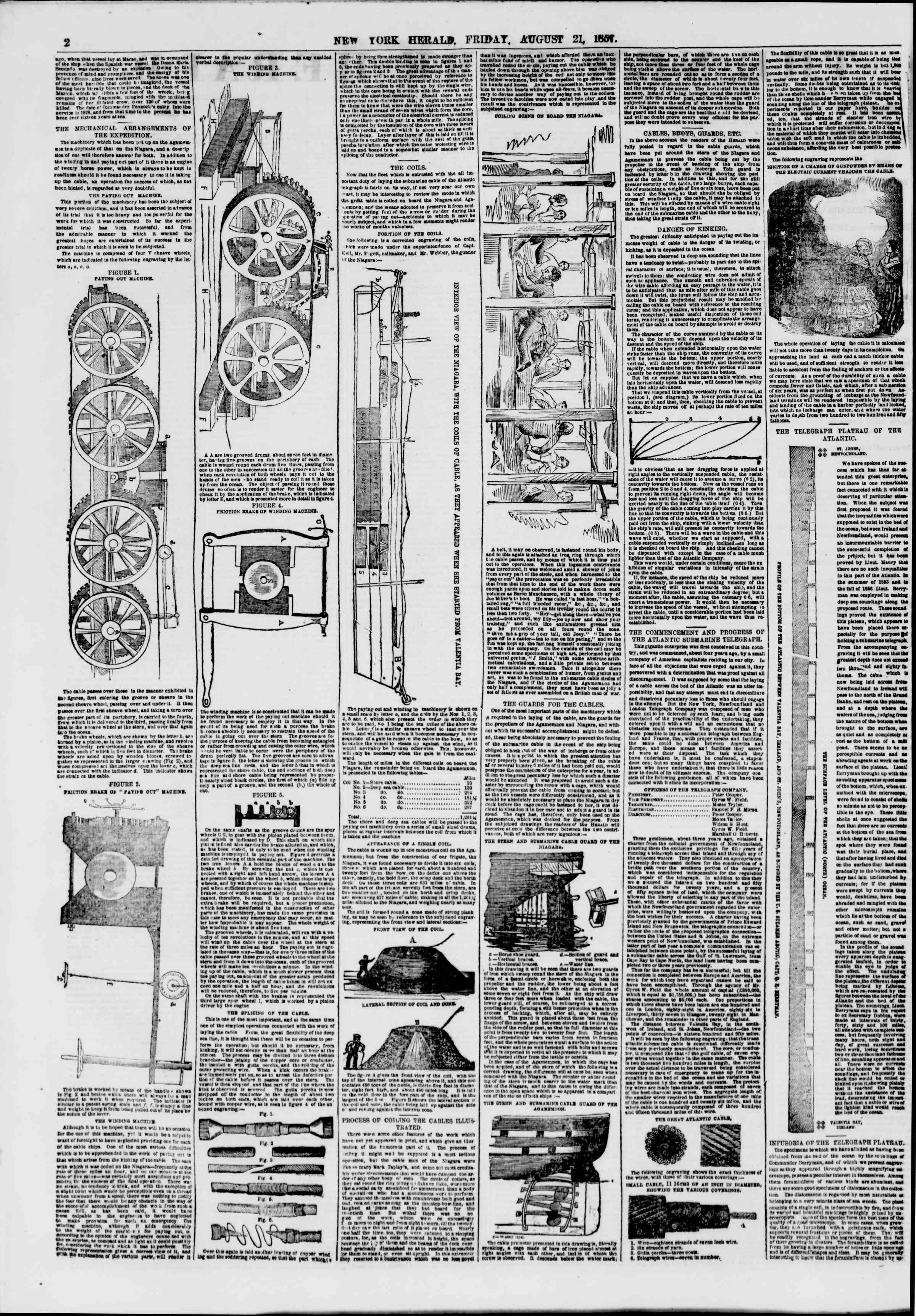 Newspaper of The New York Herald dated August 21, 1857 Page 2