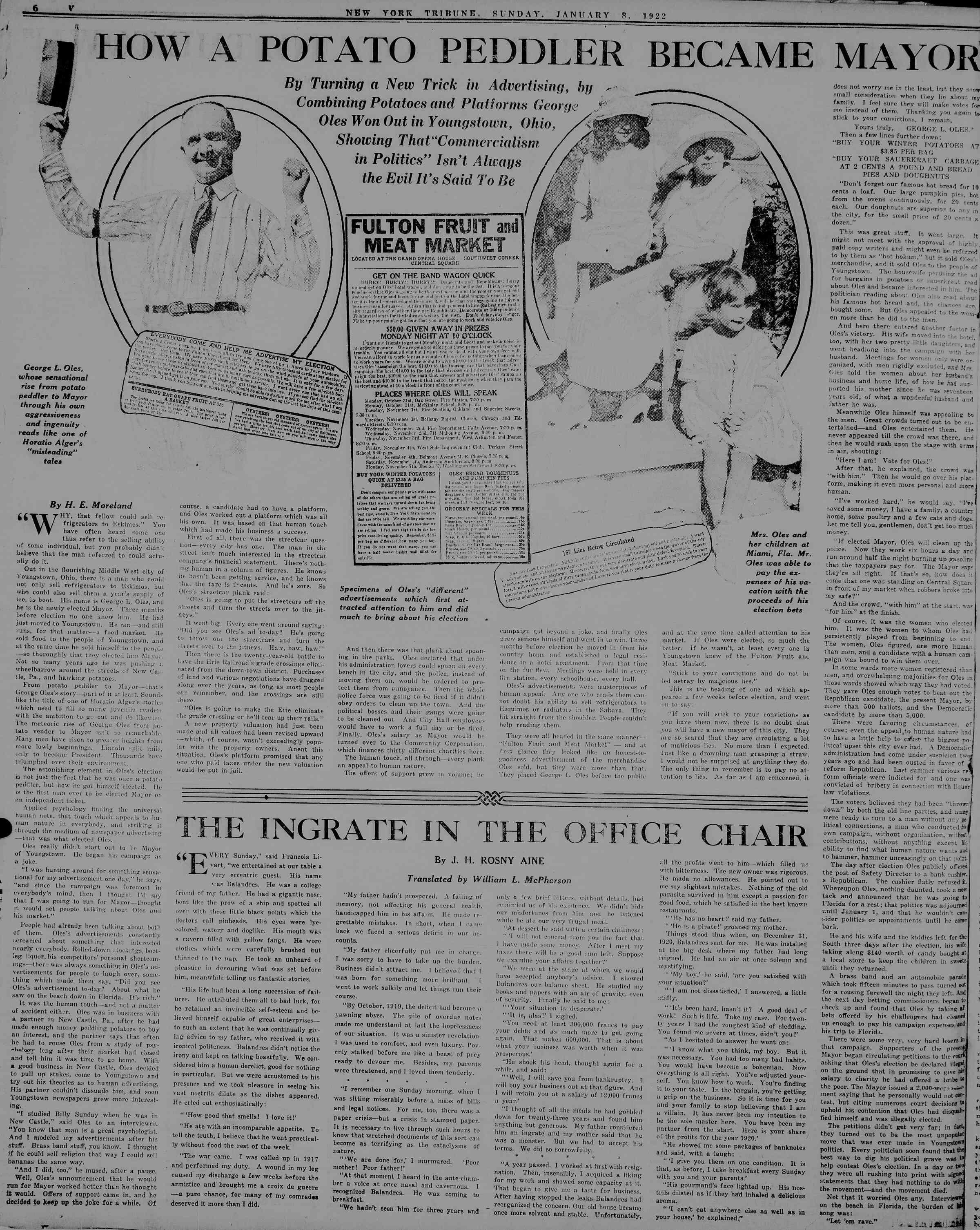 January 8, 1922 Tarihli New York Tribune Dergisi Sayfa 54