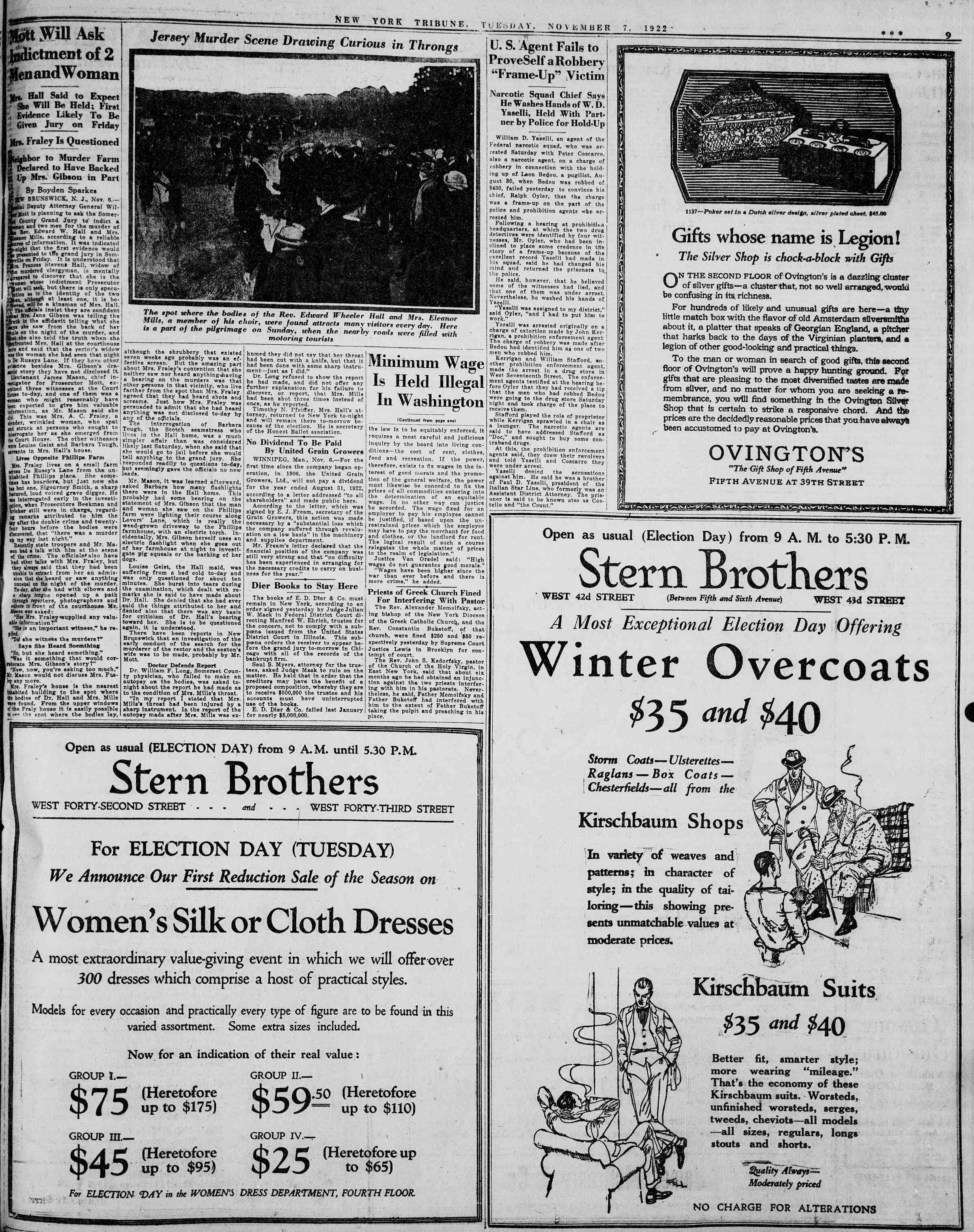 7 Kasım 1922 Tarihli New York Tribune Gazetesi Sayfa 9