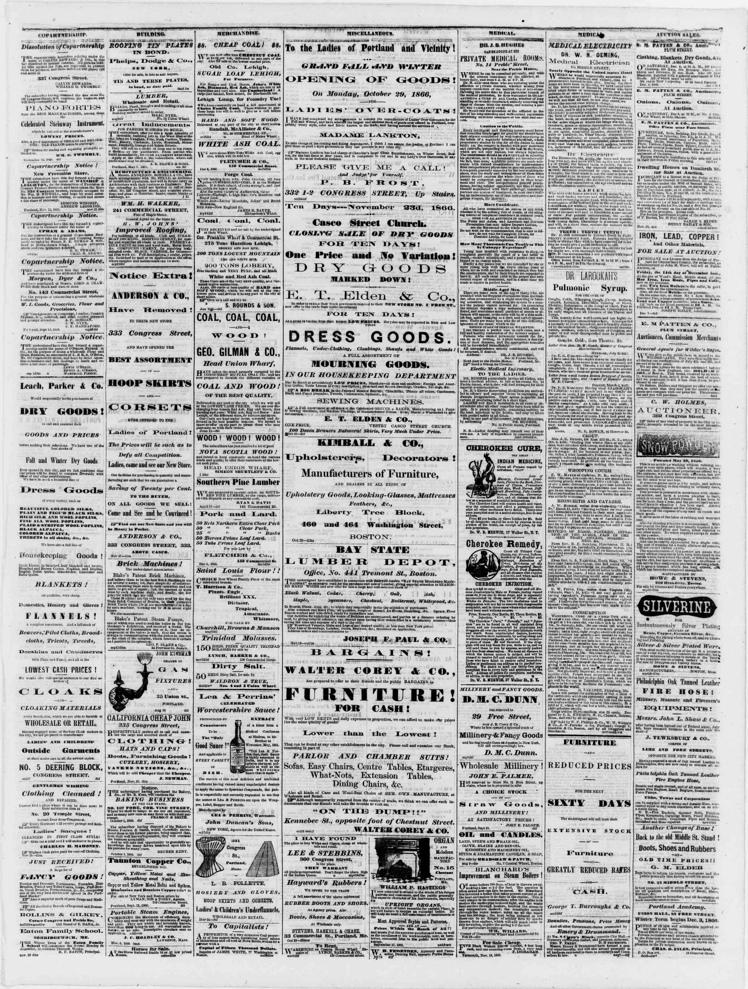 Newspaper of Portland Daily Press dated December 8, 1866 Page 3