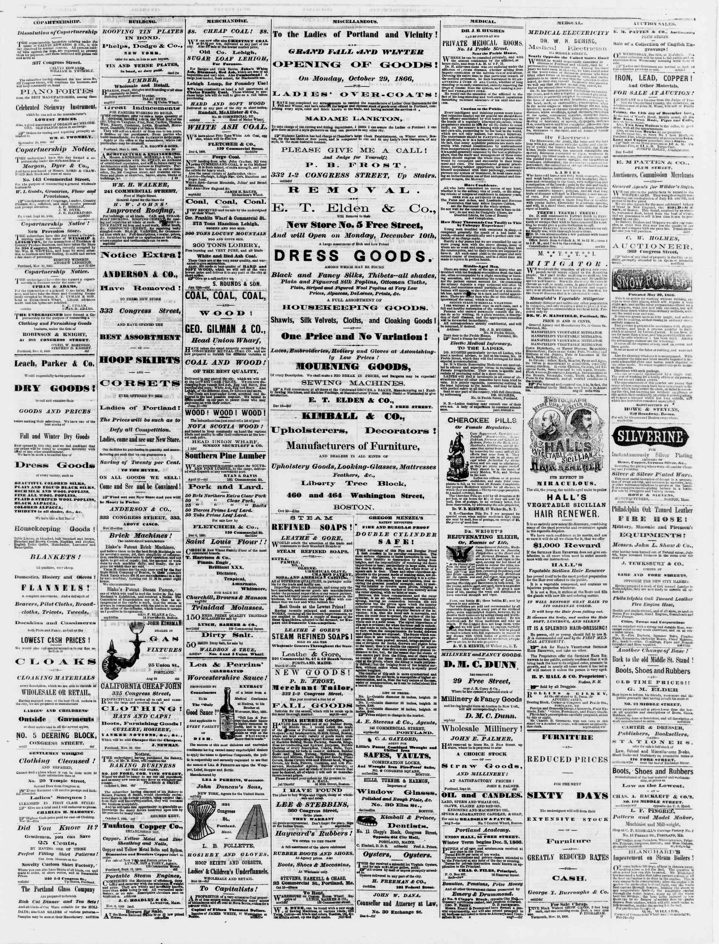 Newspaper of Portland Daily Press dated December 10, 1866 Page 3