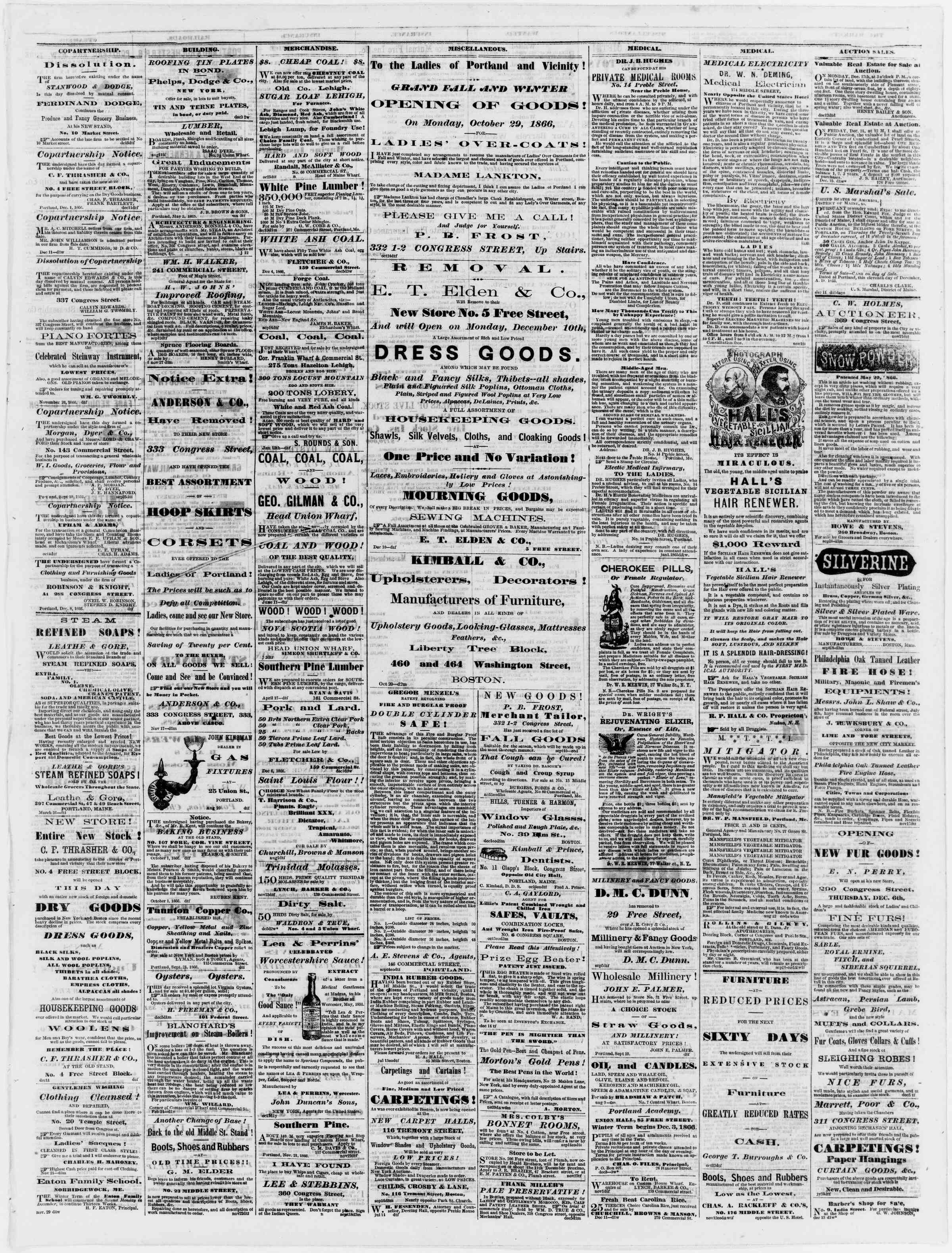 Newspaper of Portland Daily Press dated December 17, 1866 Page 3