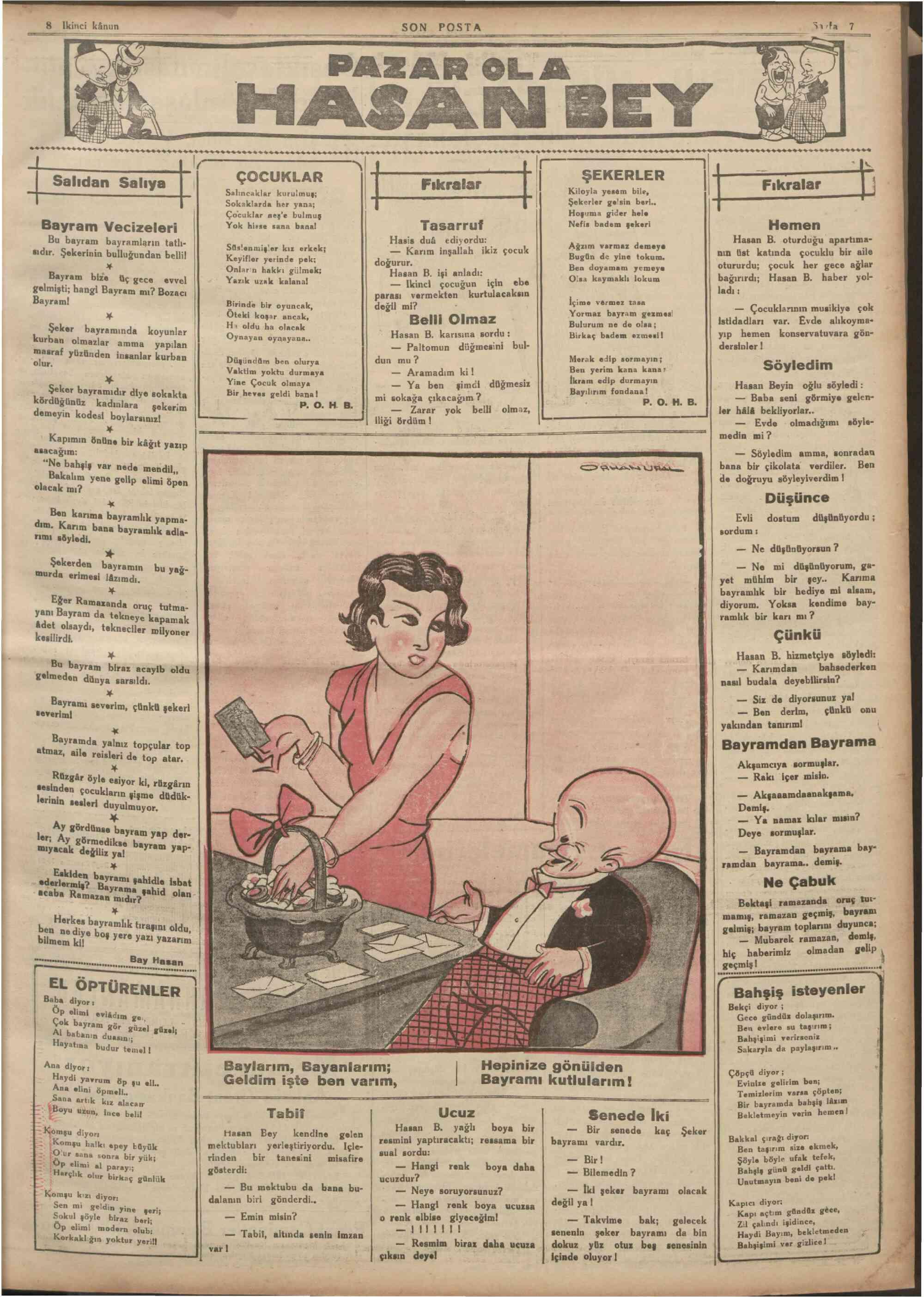 8 Ocak 1935 tarihli Son Posta Gazetesi Sayfa 7