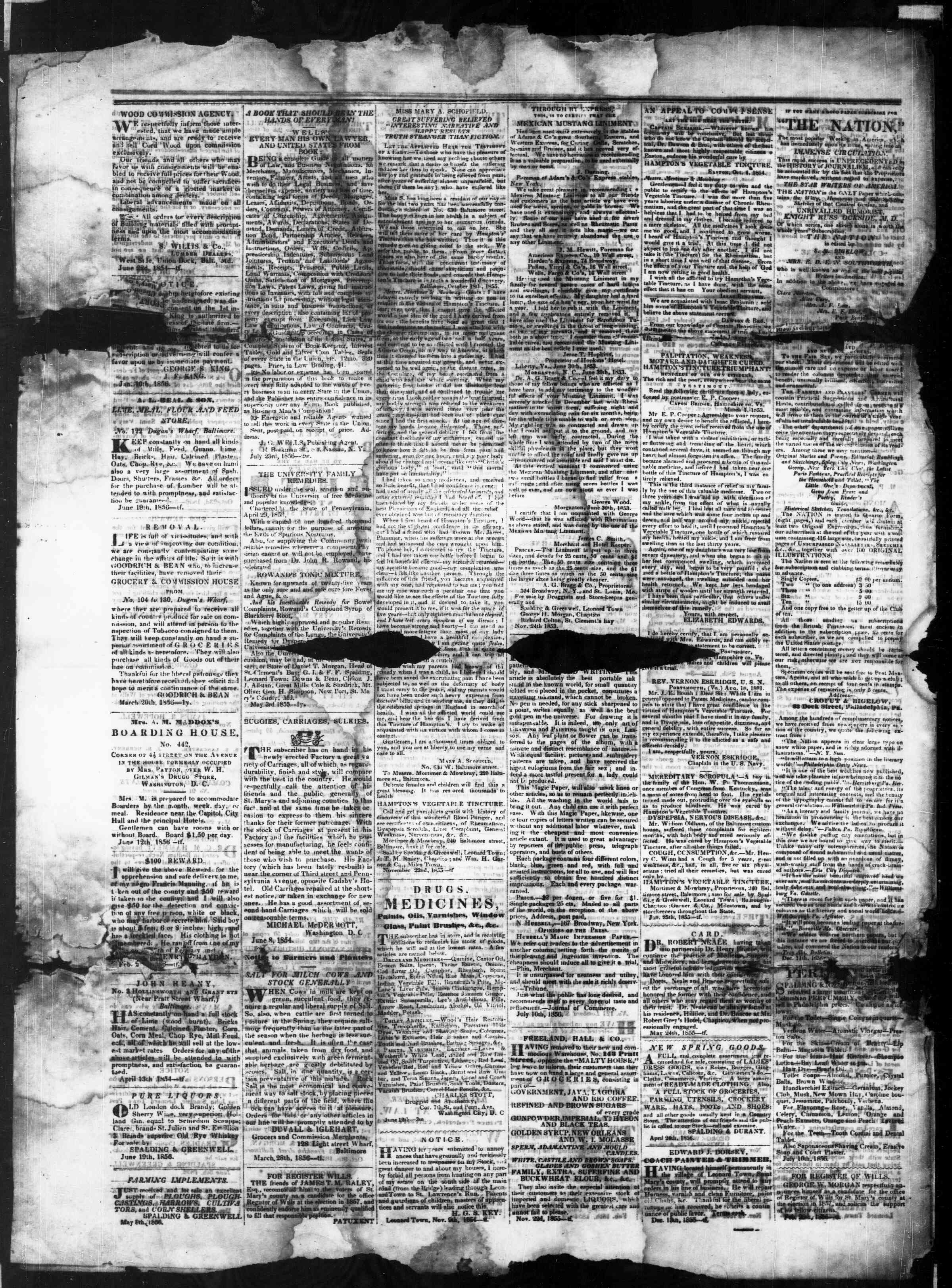 Newspaper of St. Mary's Beacon dated January 22, 1857 Page 4