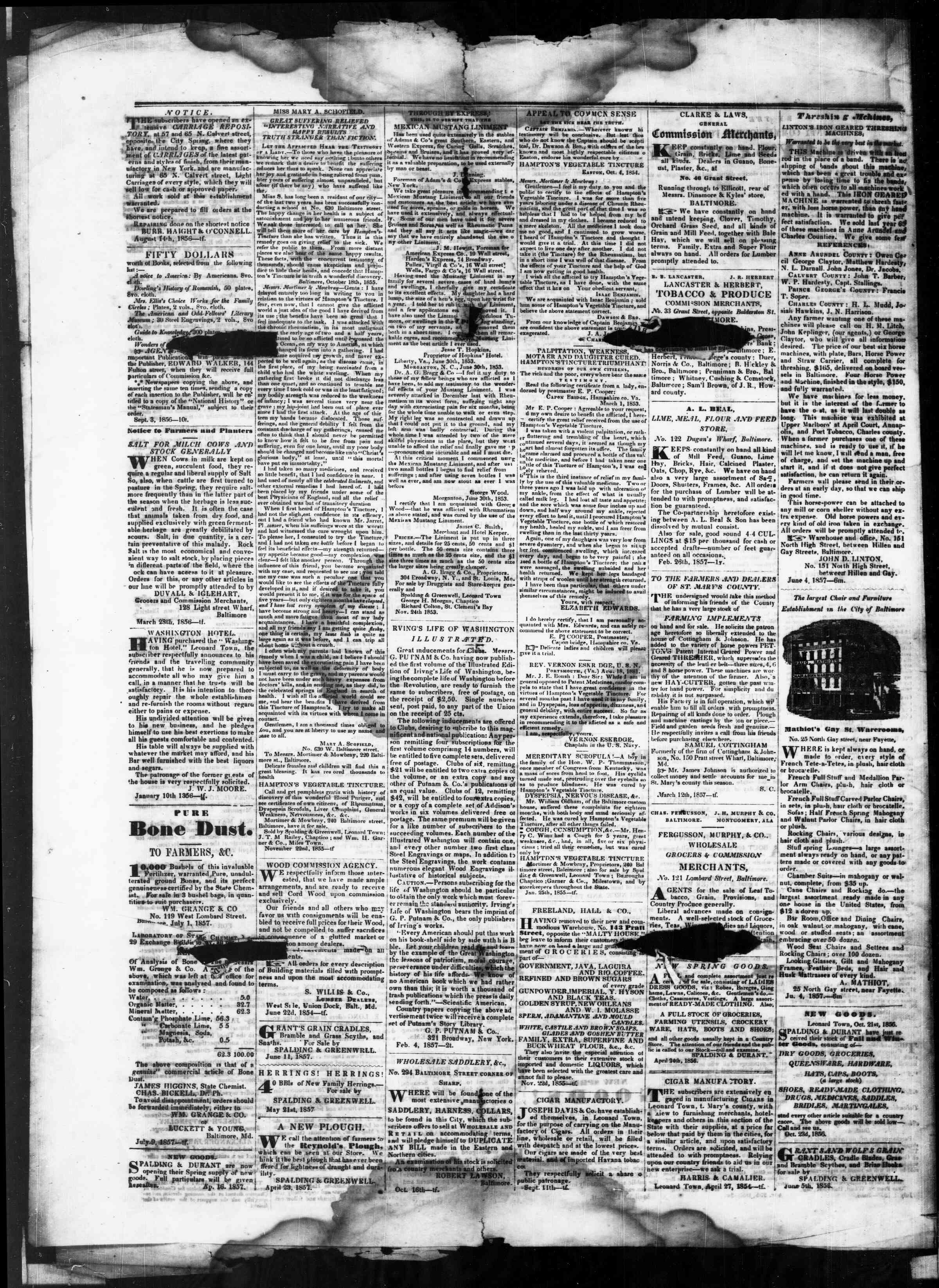 Newspaper of St. Mary's Beacon dated September 10, 1857 Page 4