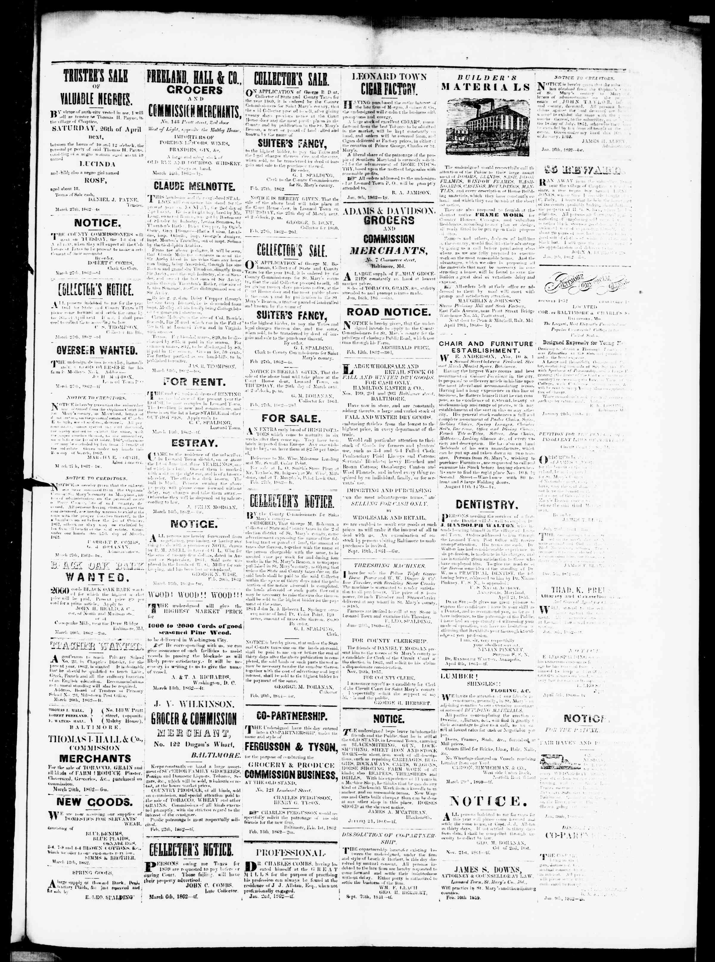 Newspaper of St. Mary's Beacon dated 27 Mart 1862 Page 3