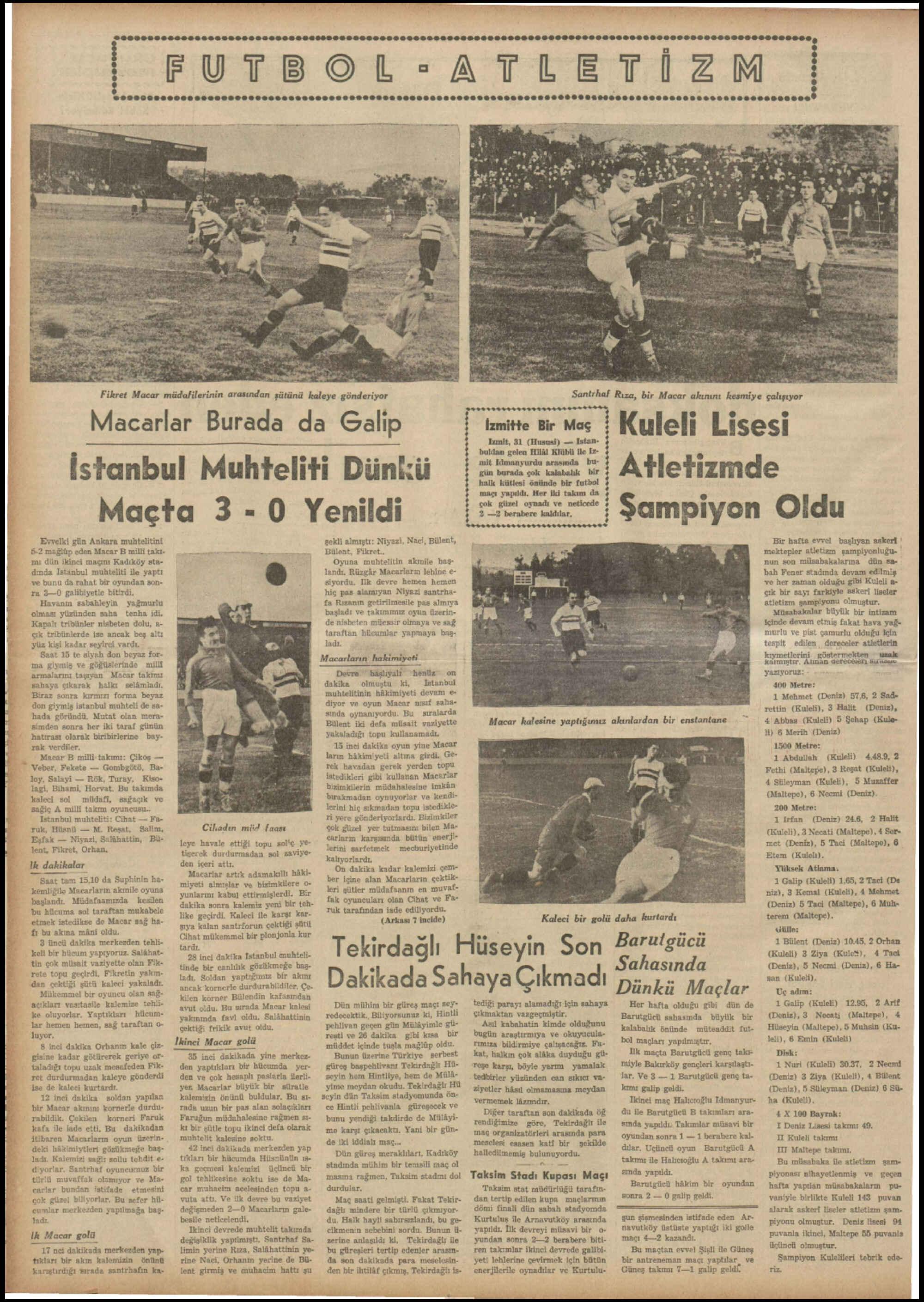 1 Kasım 1937 Tarihli Tan Dergisi Sayfa 6