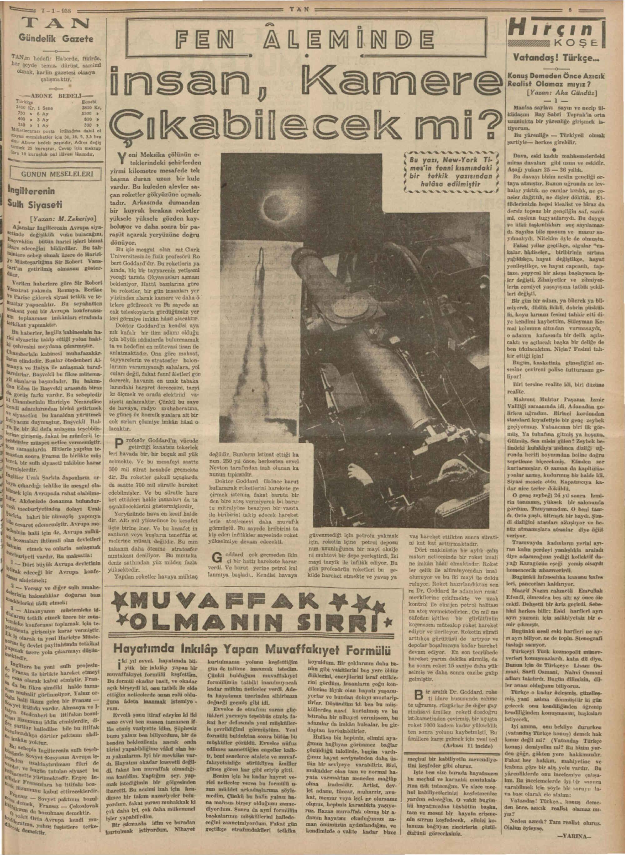 7 Ocak 1938 Tarihli Tan Dergisi Sayfa 5