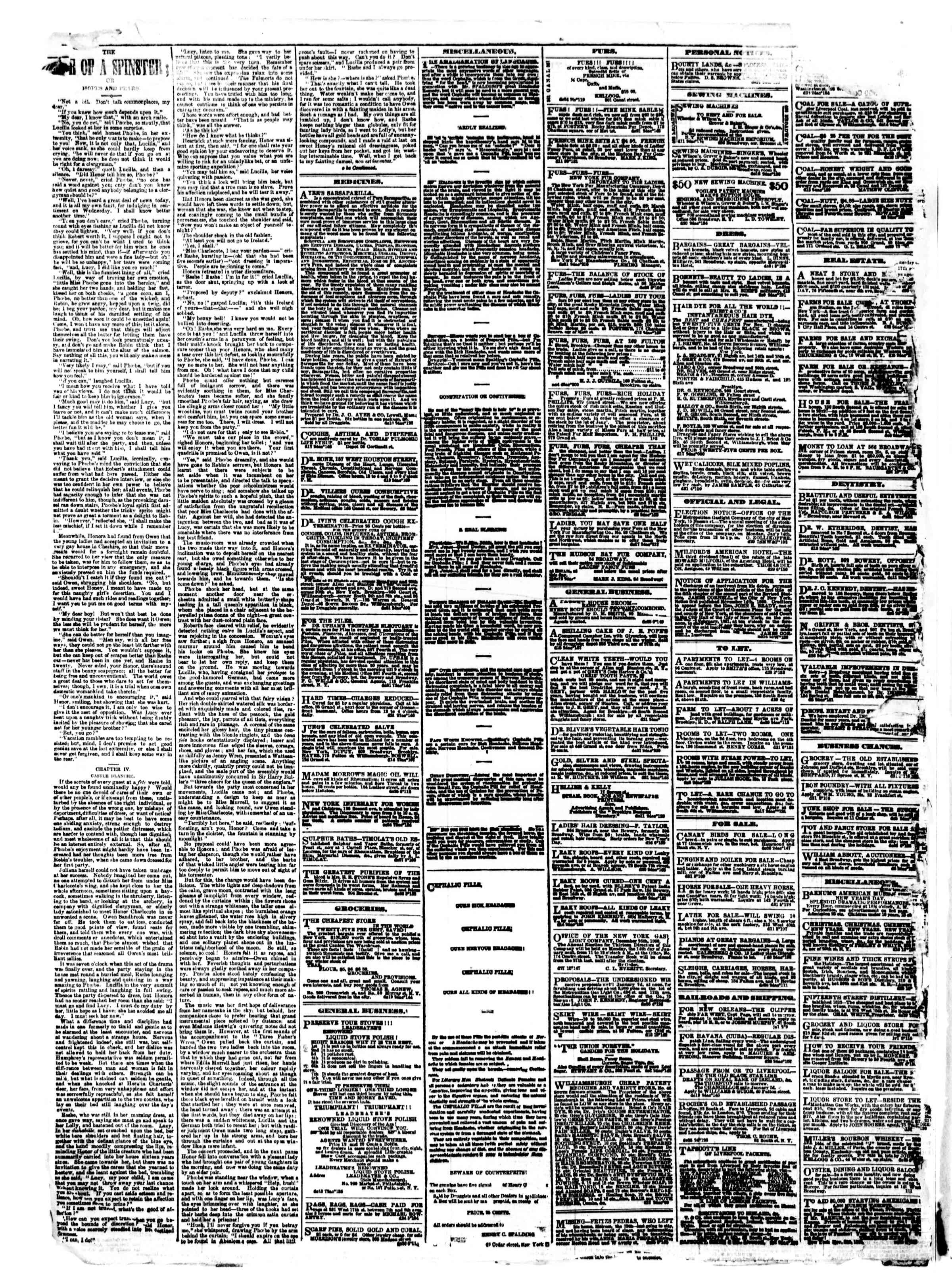 Newspaper of The Sun dated January 1, 1861 Page 4