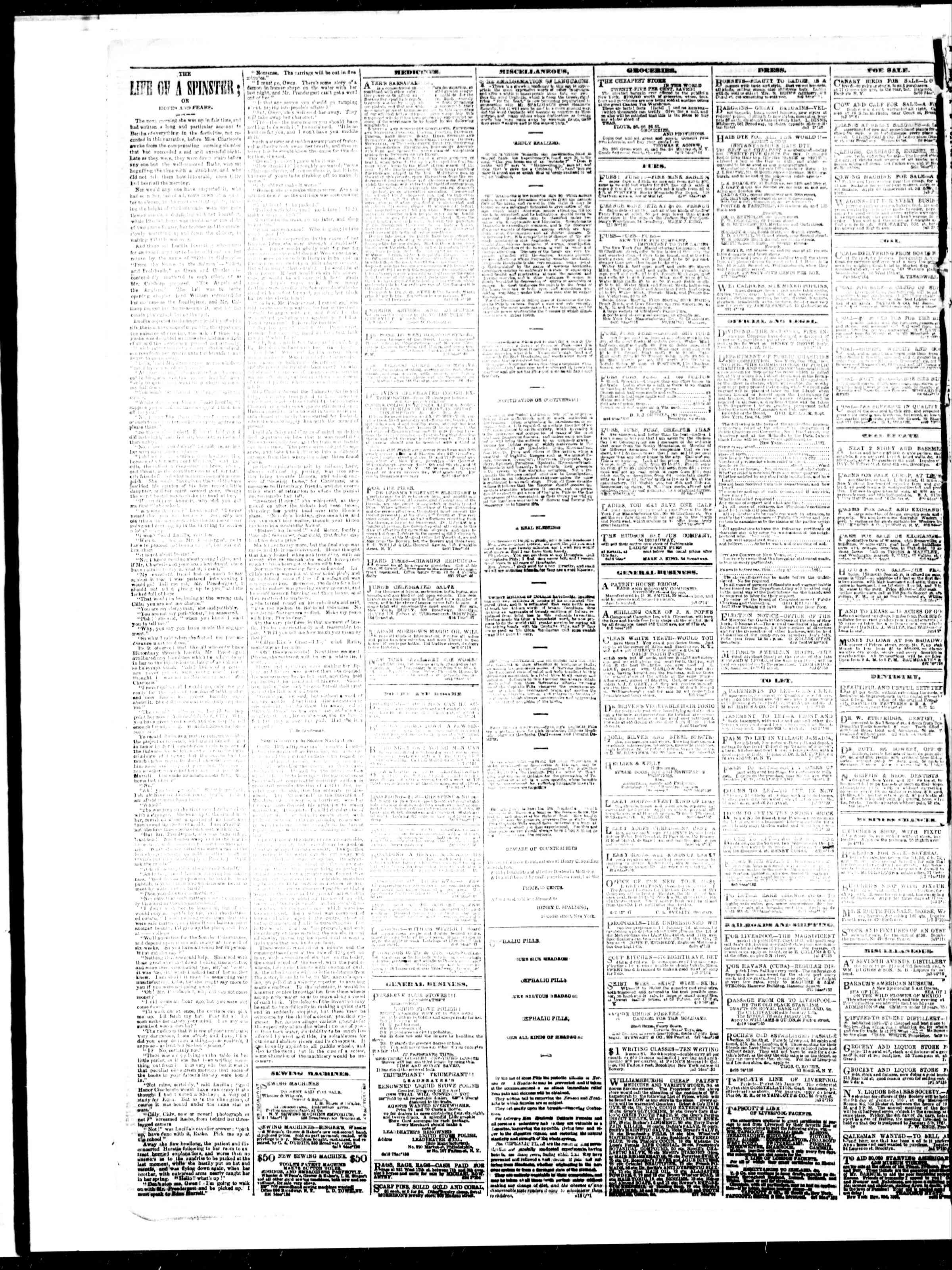 Newspaper of The Sun dated January 4, 1861 Page 4