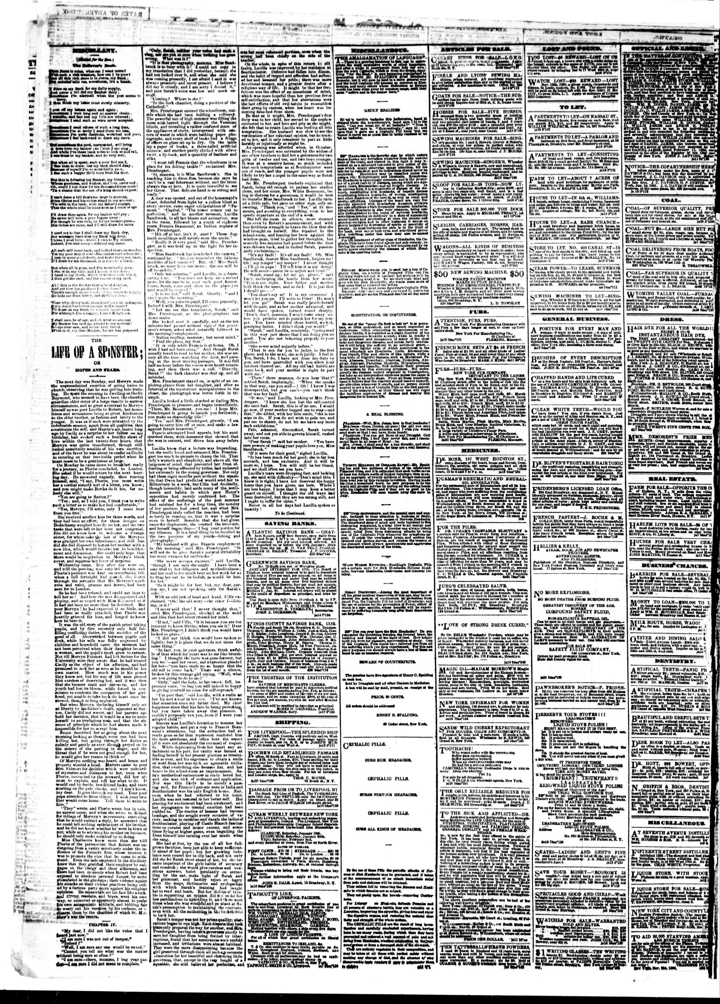Newspaper of The Sun dated 21 Ocak 1861 Page 4