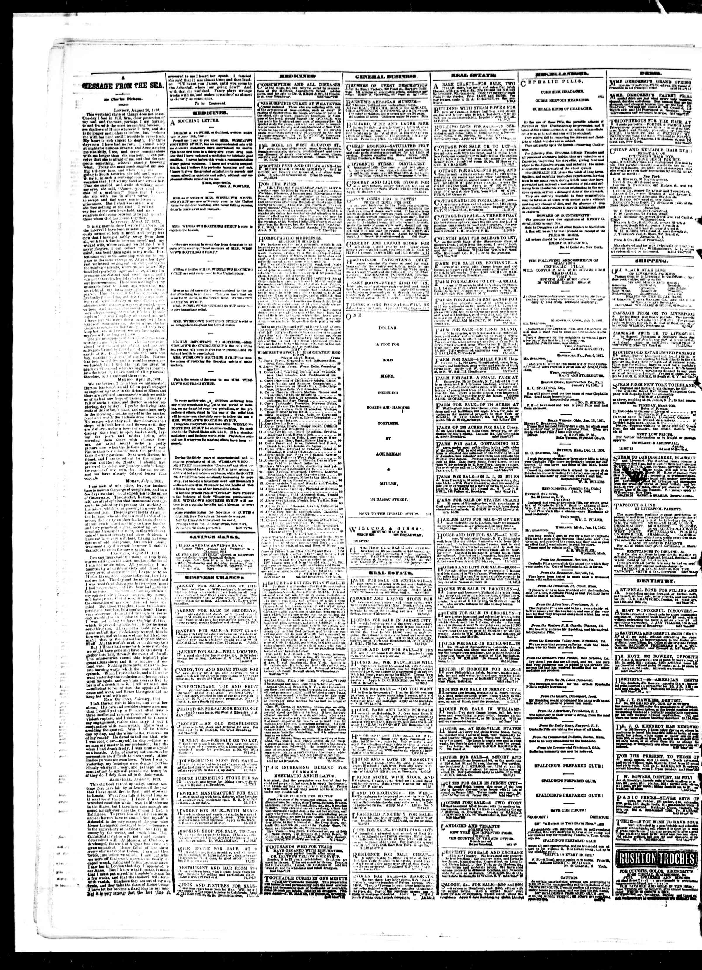 Newspaper of The Sun dated 14 Mart 1861 Page 4