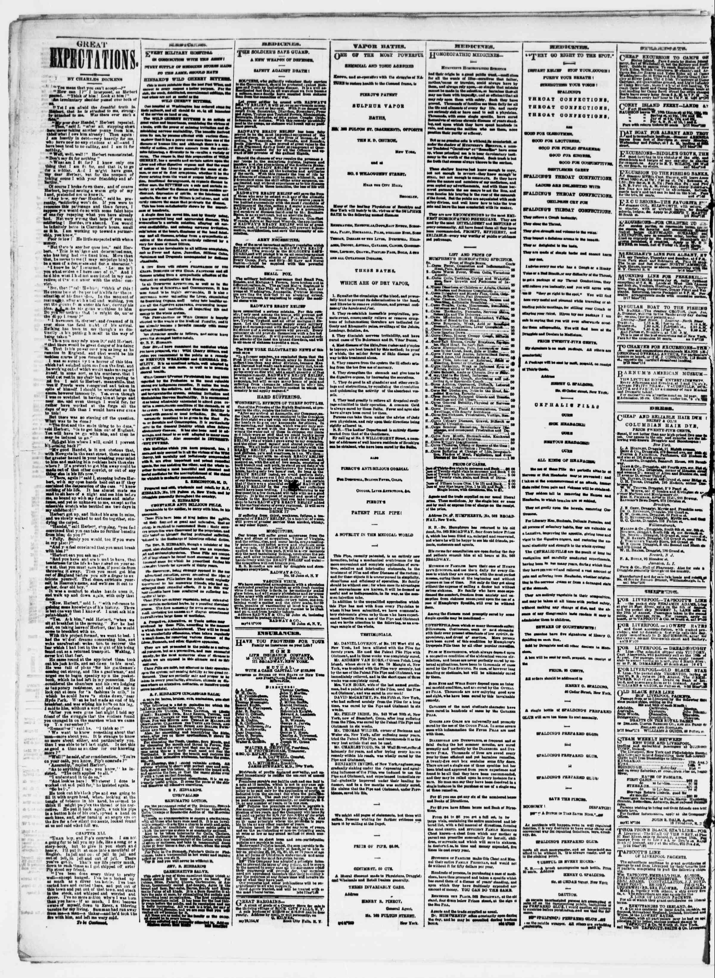 Newspaper of The Sun dated August 14, 1861 Page 4