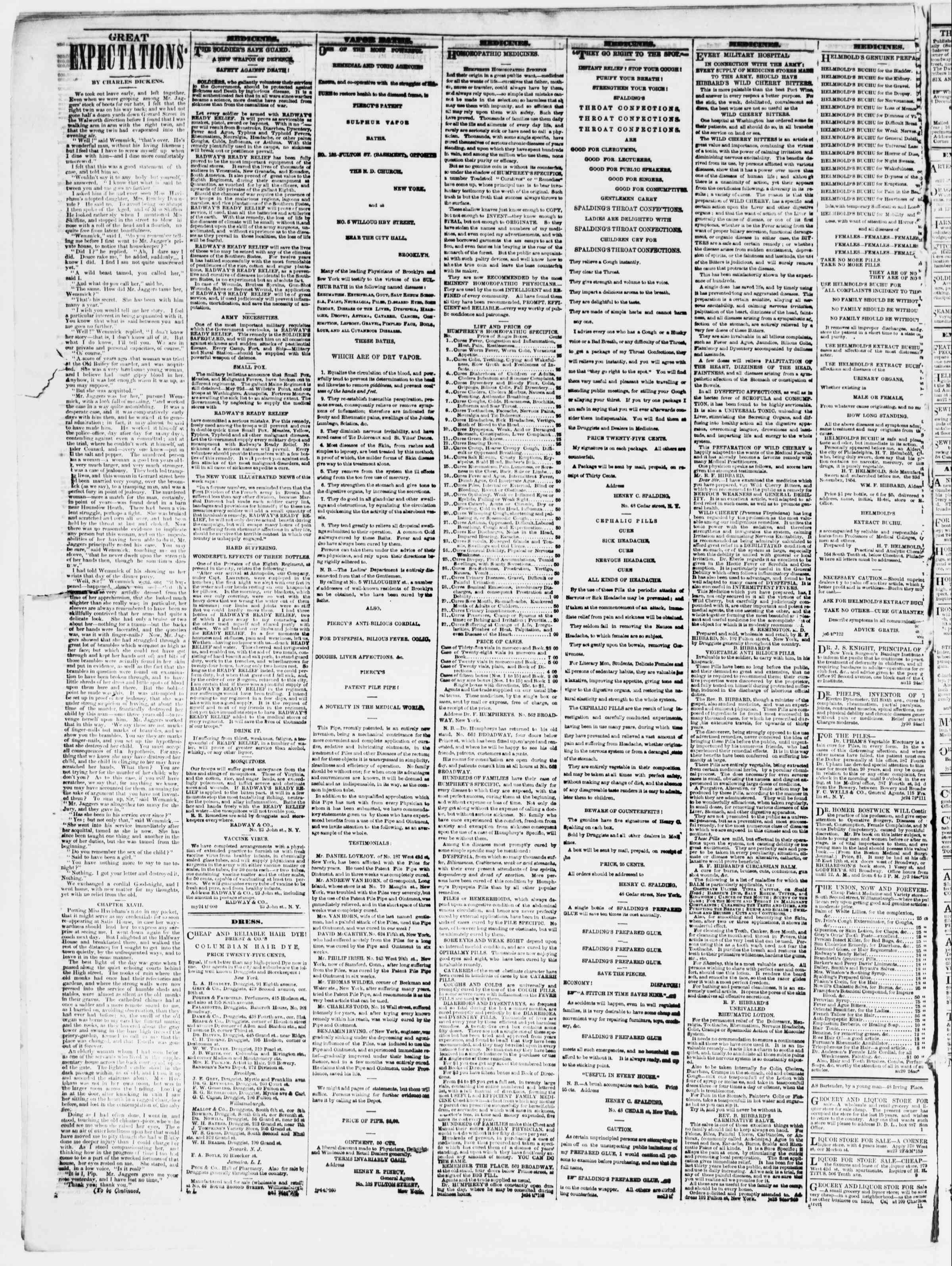 Newspaper of The Sun dated August 23, 1861 Page 4
