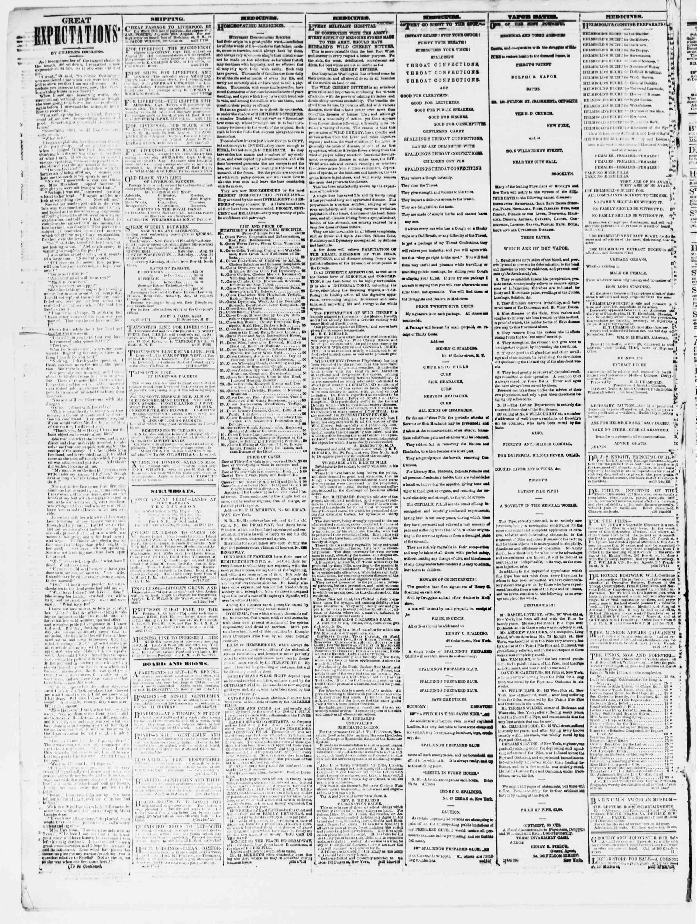 Newspaper of The Sun dated August 24, 1861 Page 4