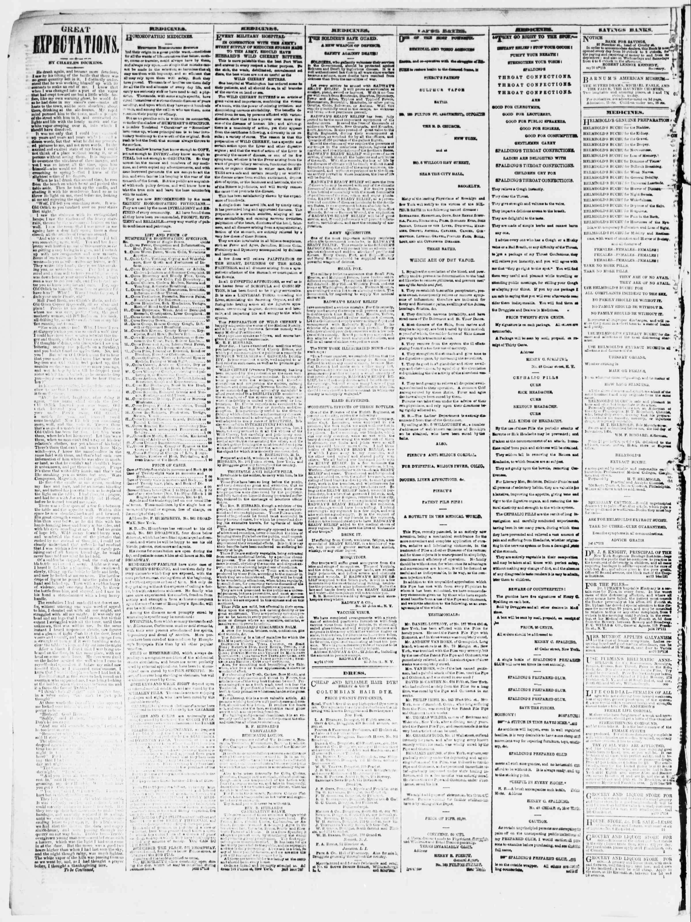 Newspaper of The Sun dated August 30, 1861 Page 4