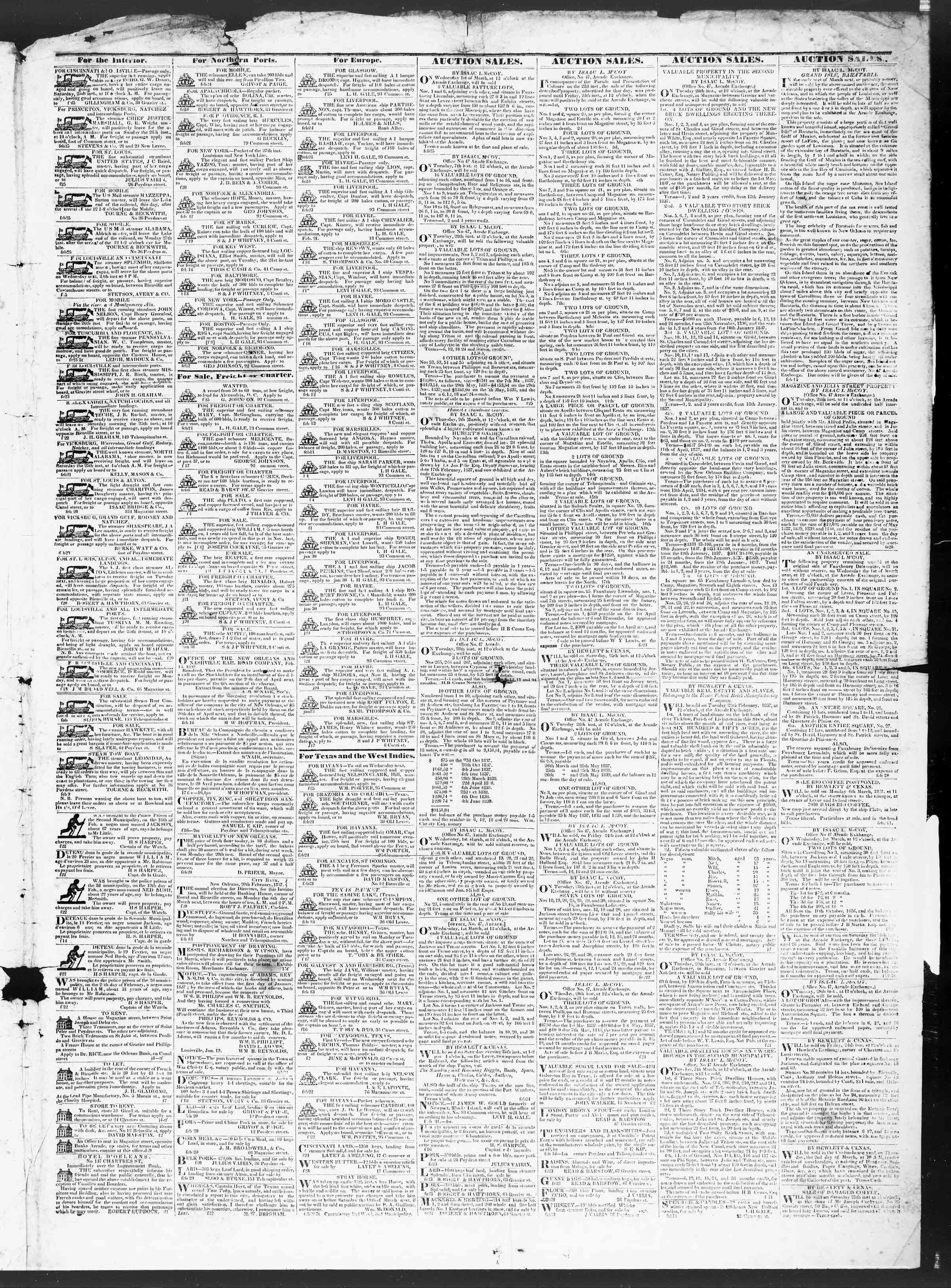 February 25, 1837 Tarihli True American Gazetesi Sayfa 3