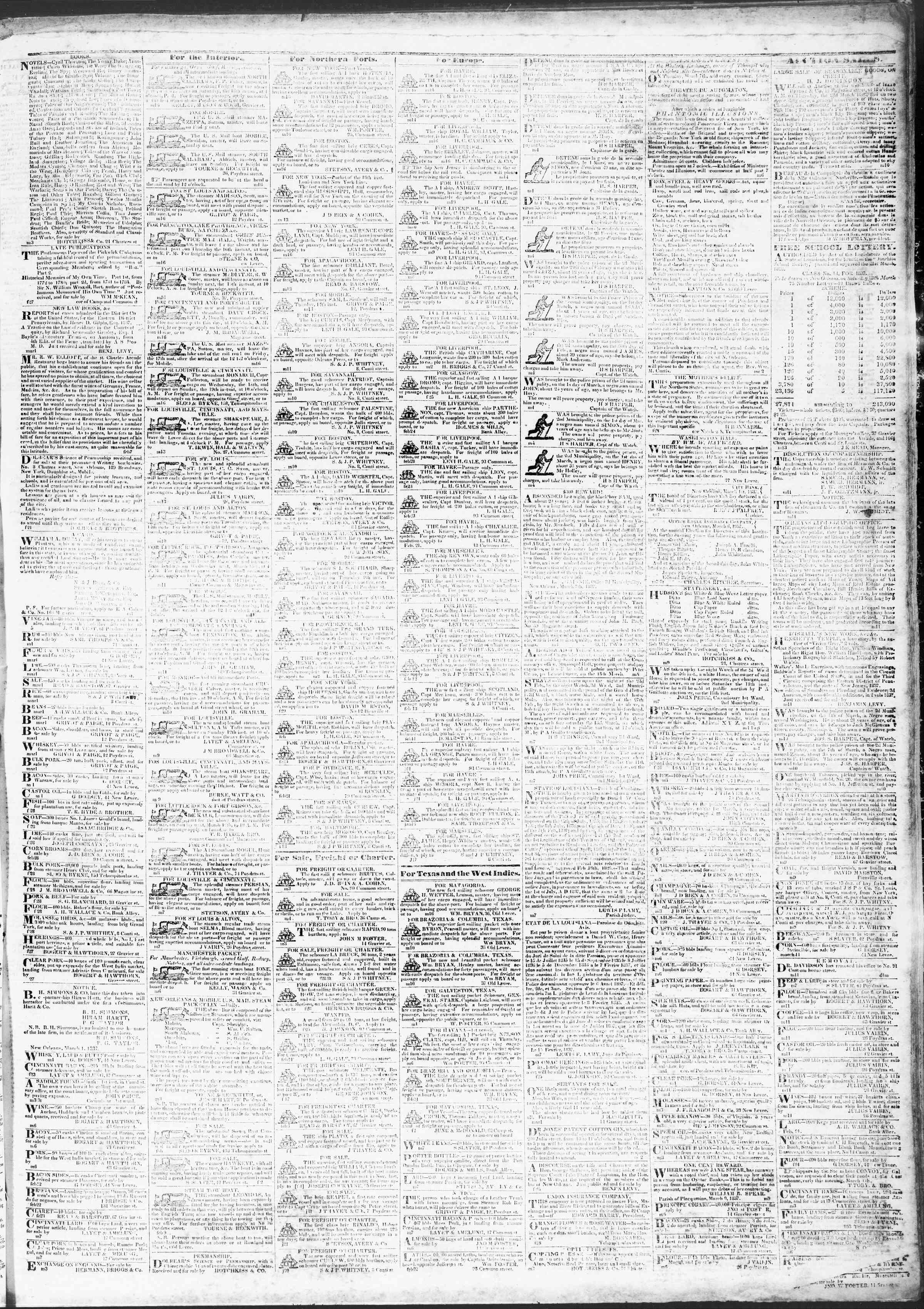 March 14, 1837 Tarihli True American Gazetesi Sayfa 3