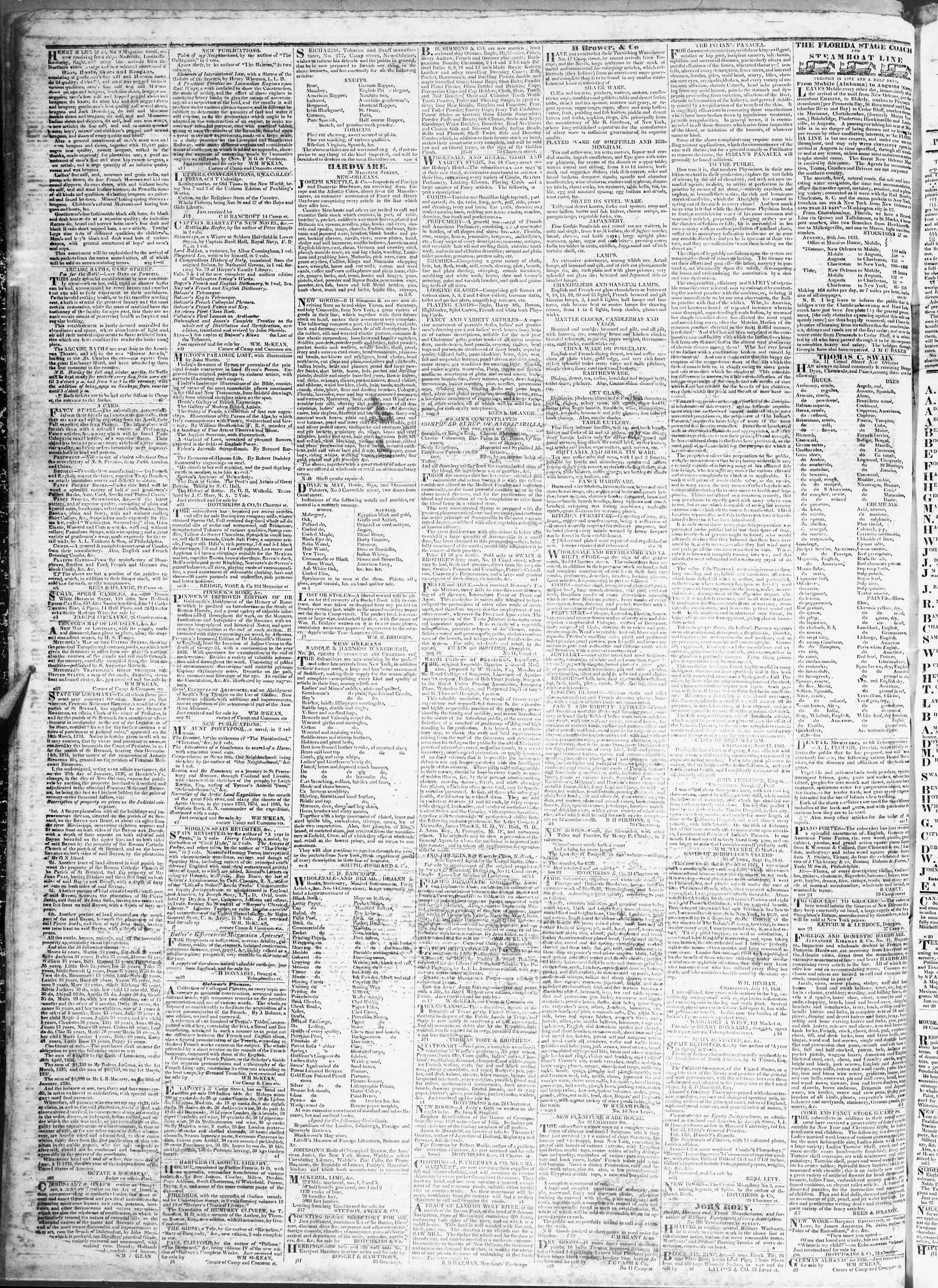 March 14, 1837 Tarihli True American Gazetesi Sayfa 4