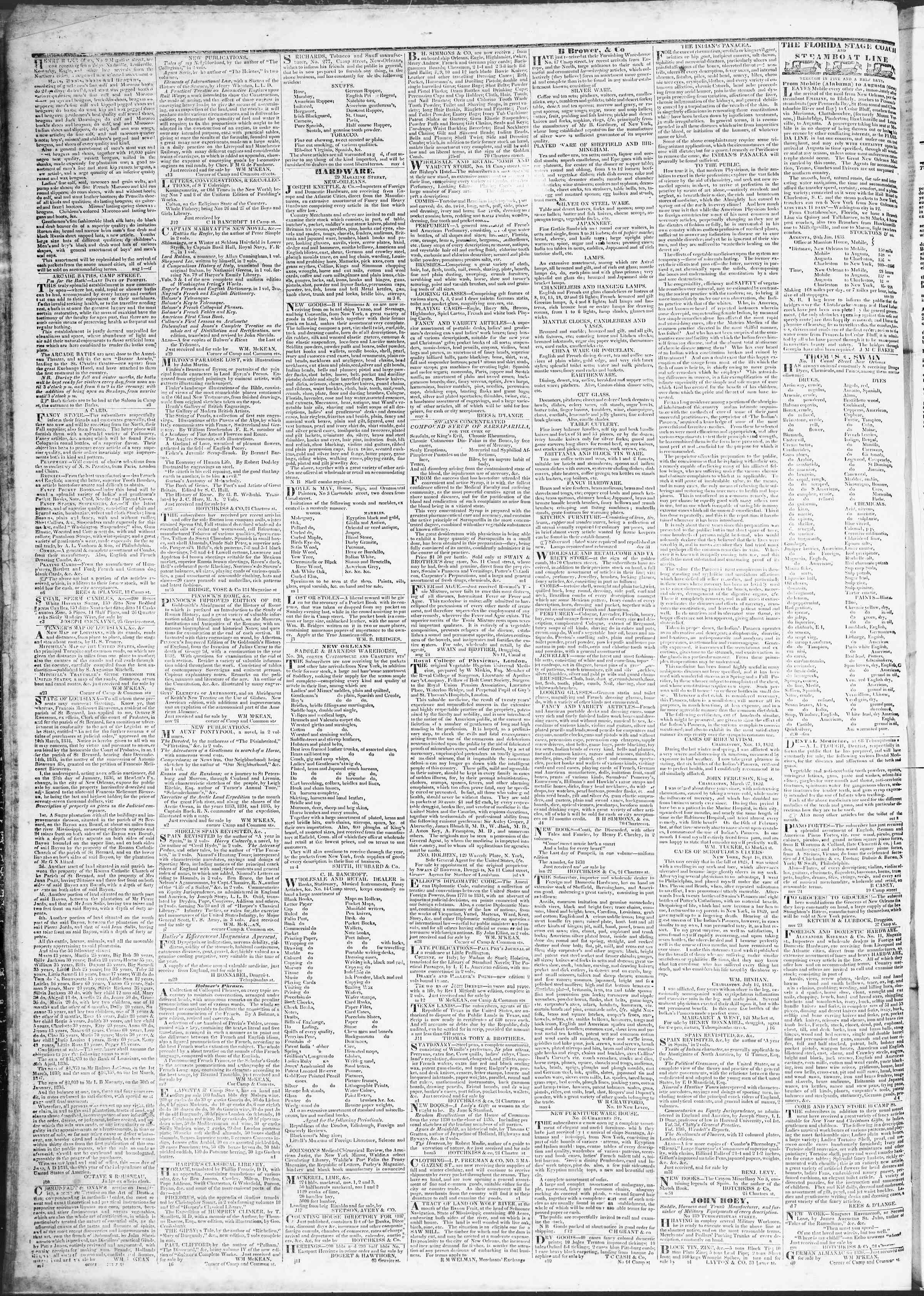 March 17, 1837 Tarihli True American Gazetesi Sayfa 4