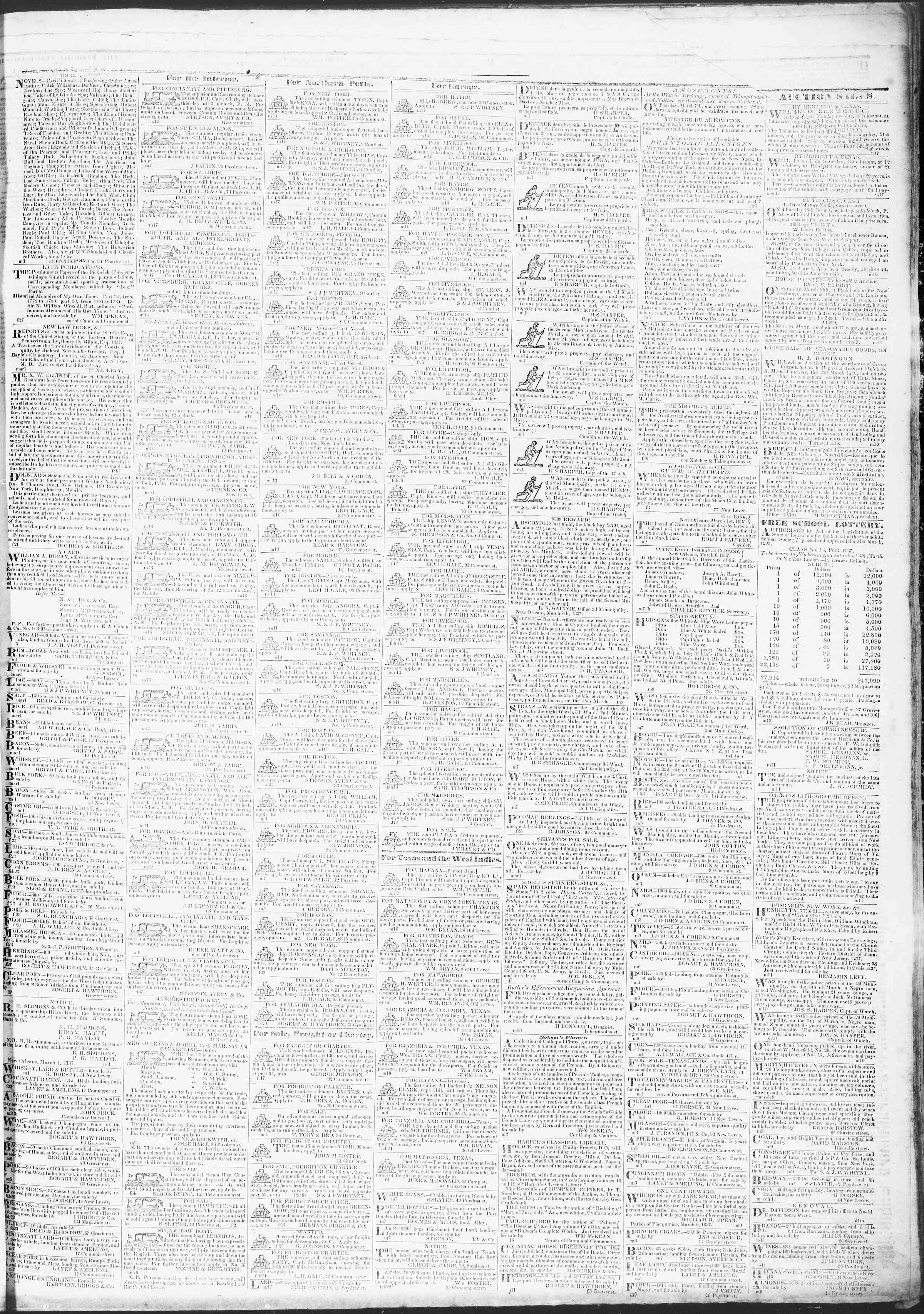 March 18, 1837 Tarihli True American Gazetesi Sayfa 3