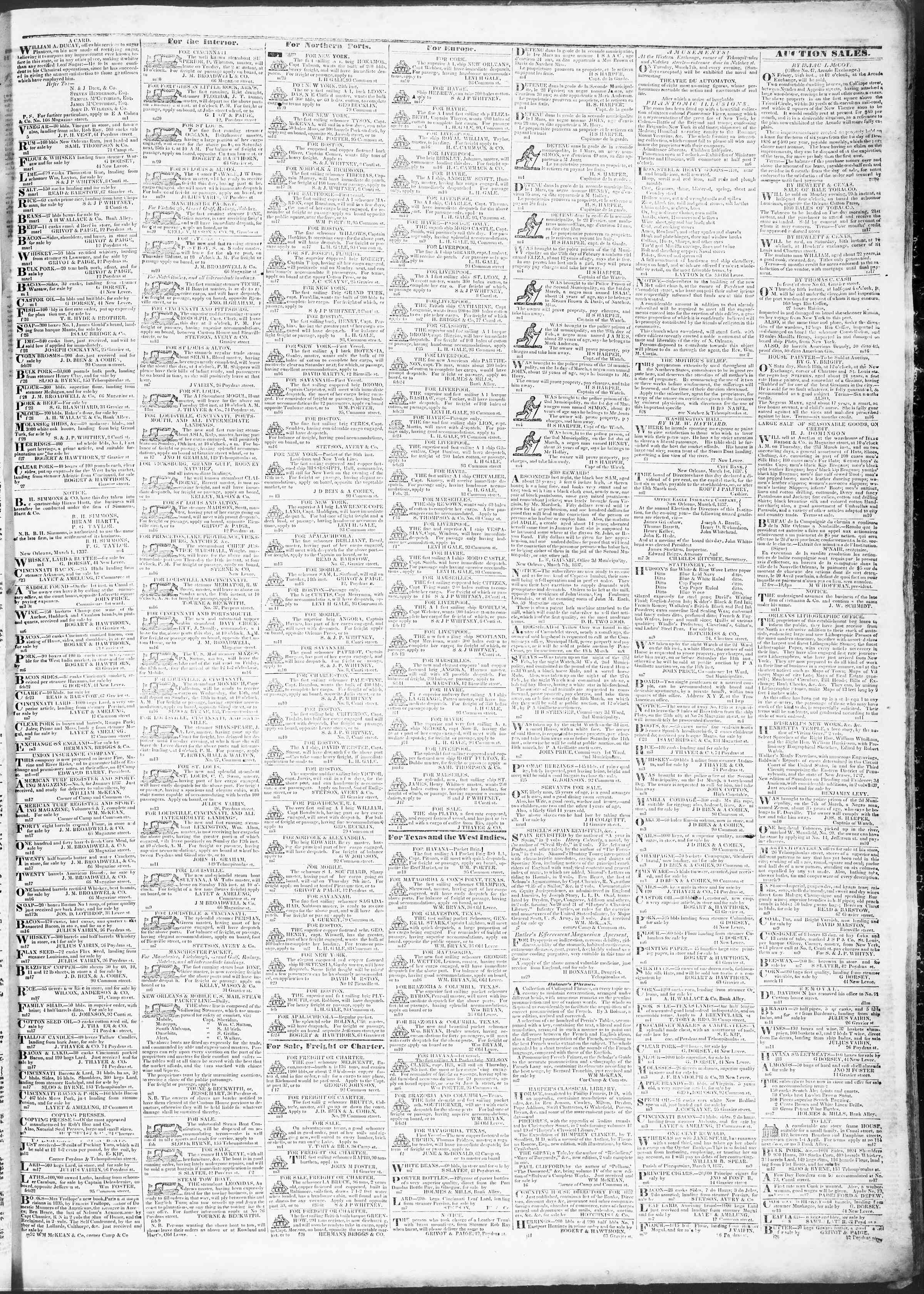 Newspaper of True American dated March 20, 1837 Page 3