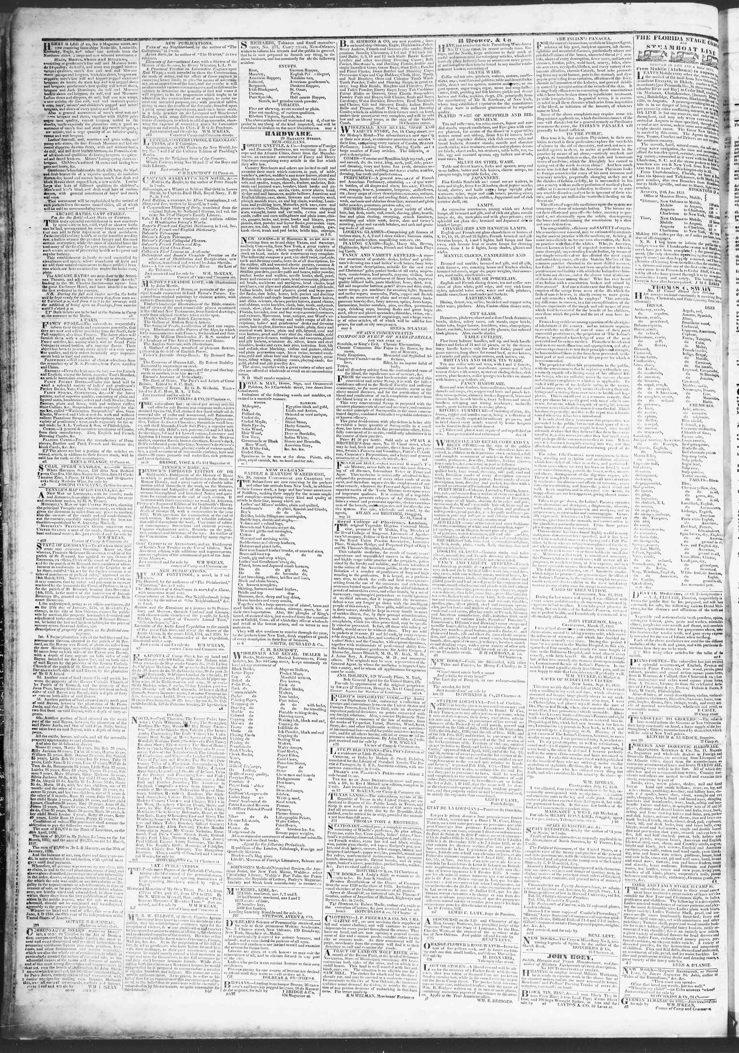 20 Mart 1837 tarihli True American Gazetesi Sayfa 4
