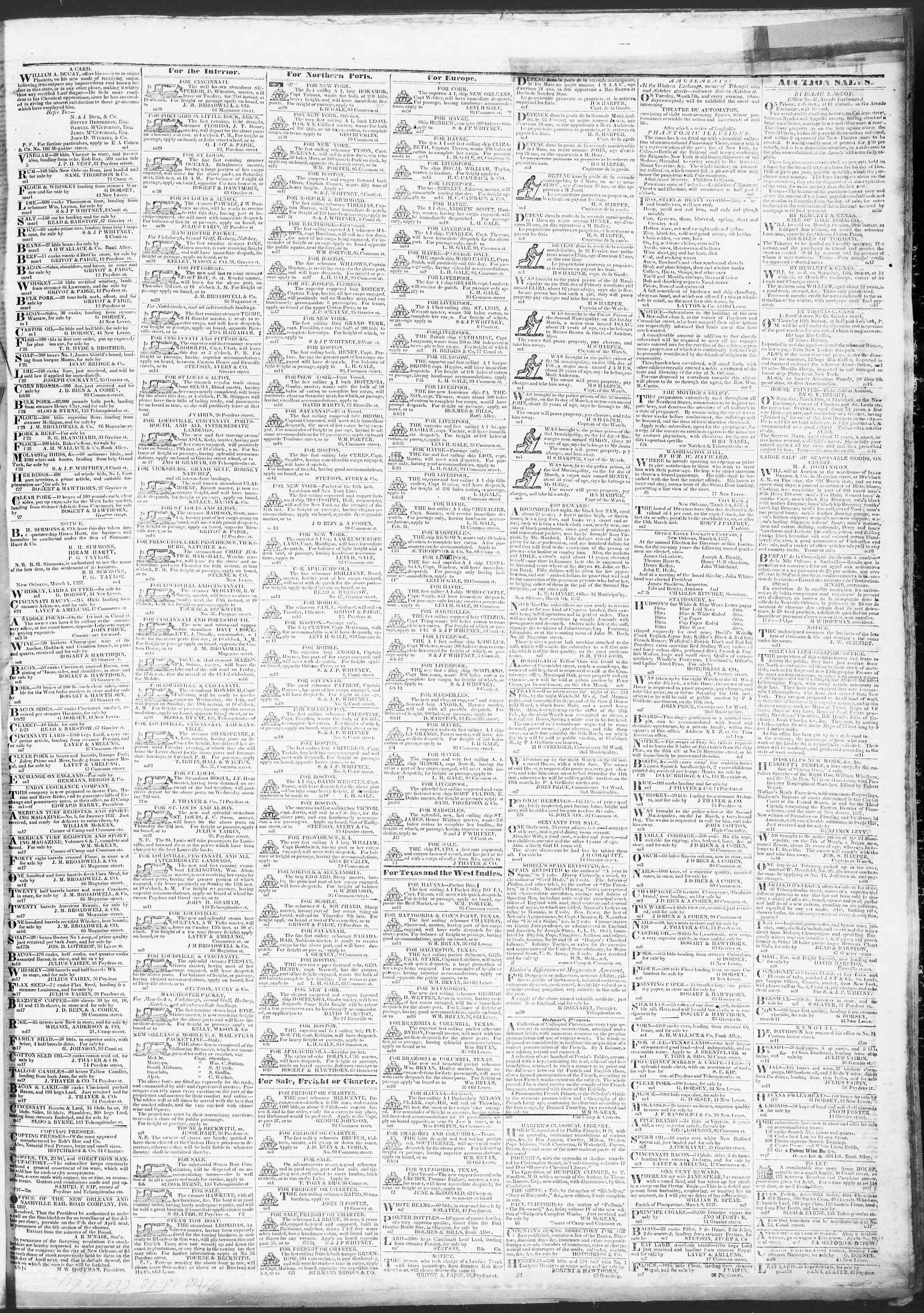 March 21, 1837 Tarihli True American Gazetesi Sayfa 3