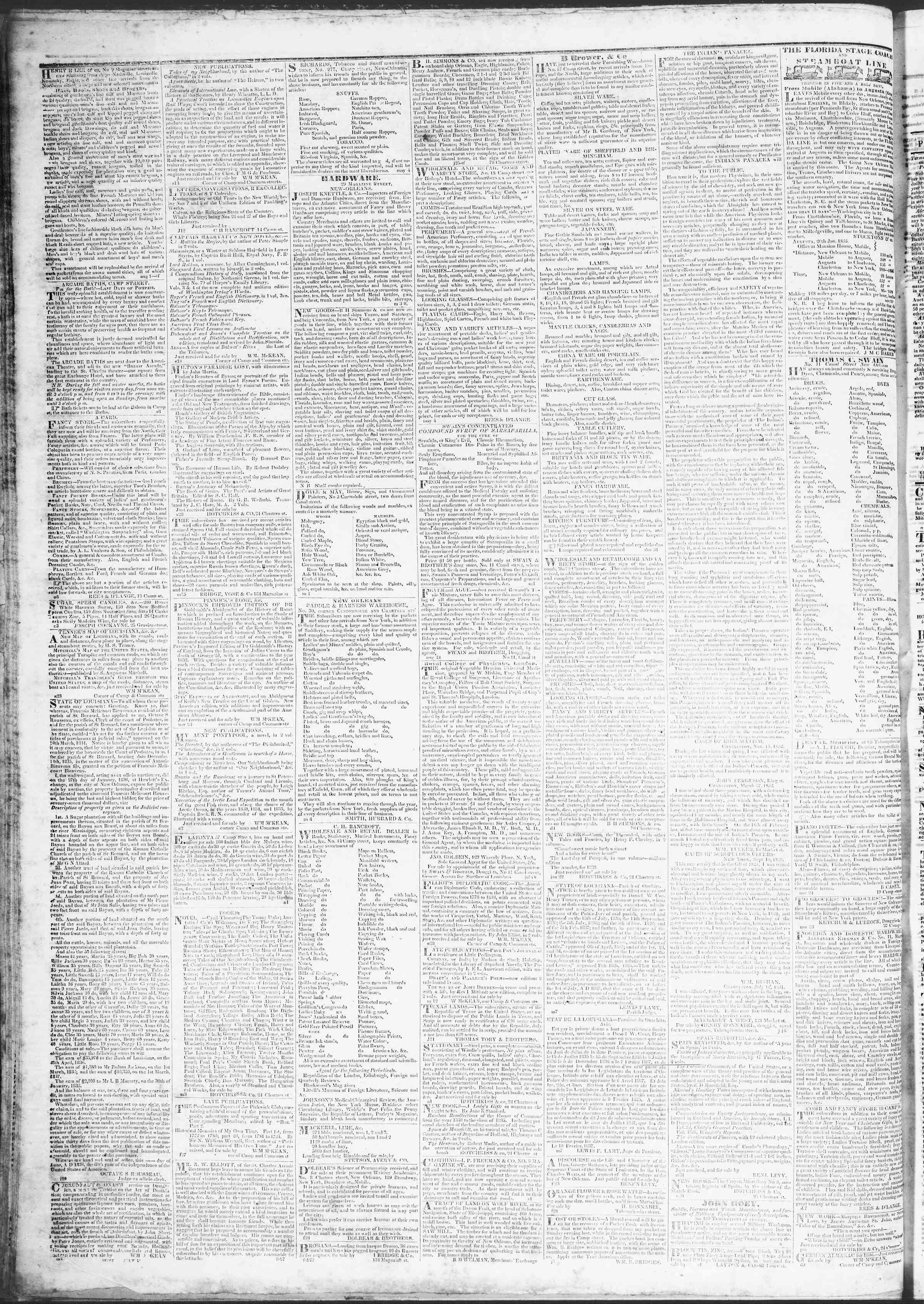 March 22, 1837 Tarihli True American Gazetesi Sayfa 4