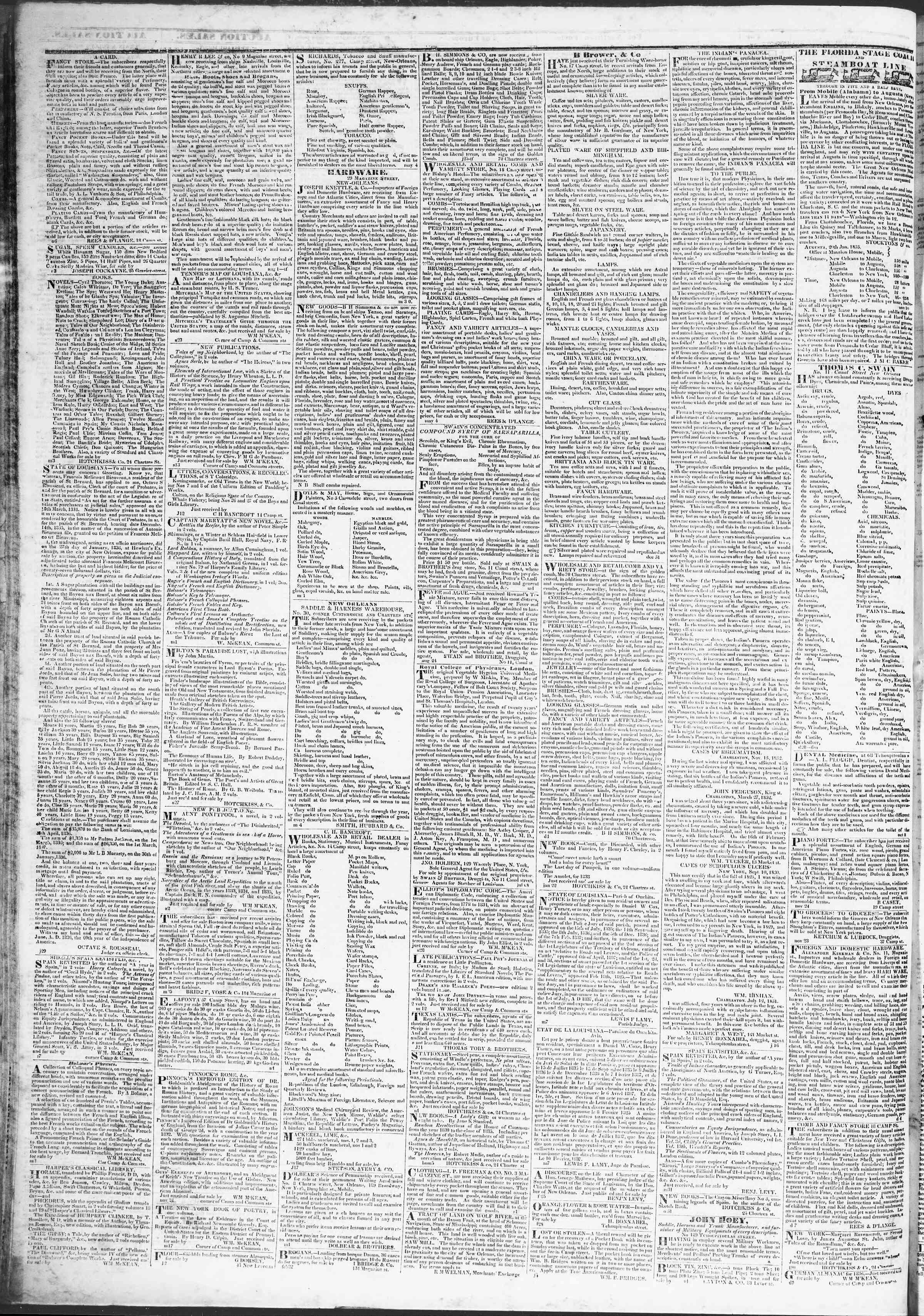 27 Mart 1837 tarihli True American Gazetesi Sayfa 4