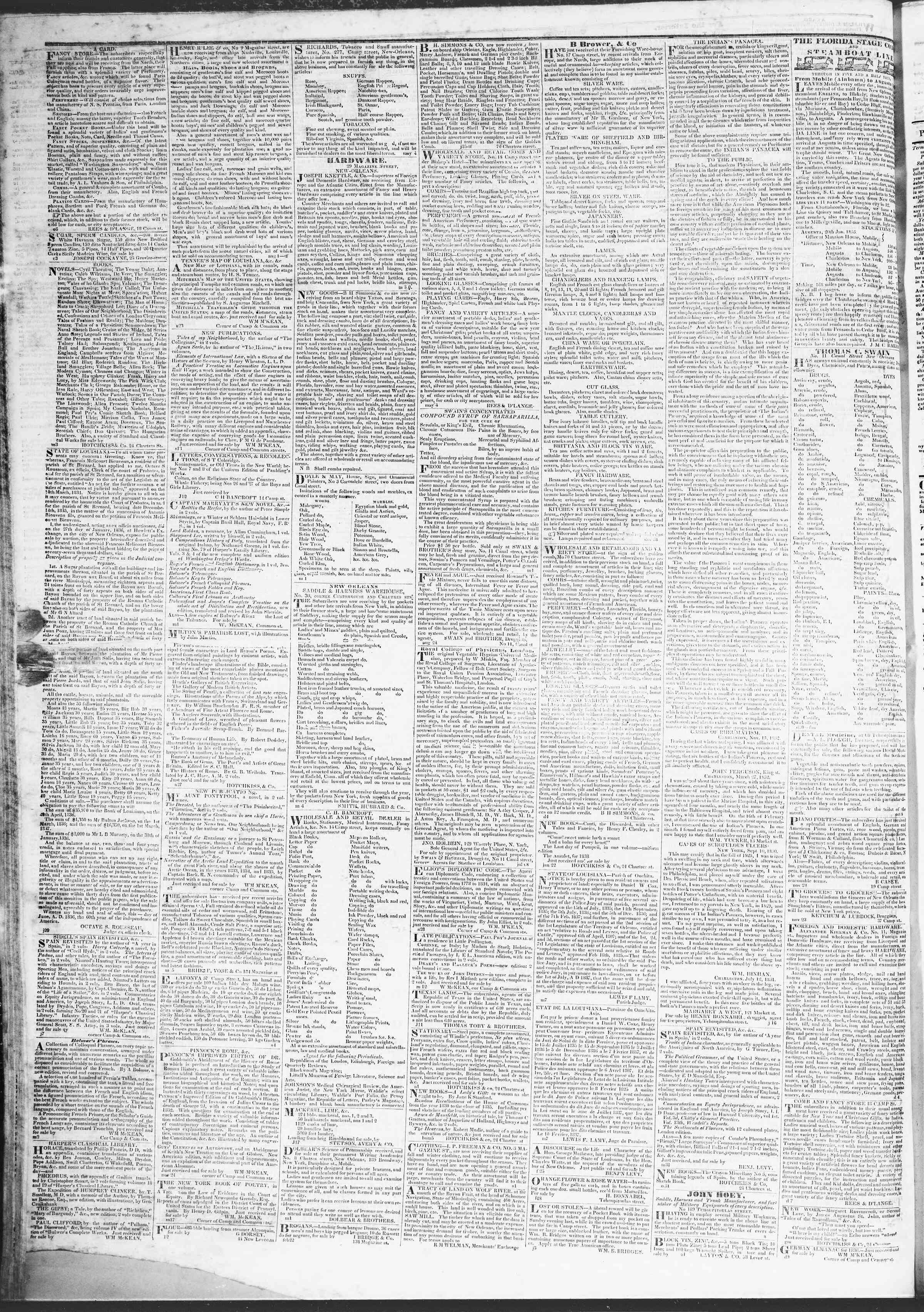 March 28, 1837 Tarihli True American Gazetesi Sayfa 4