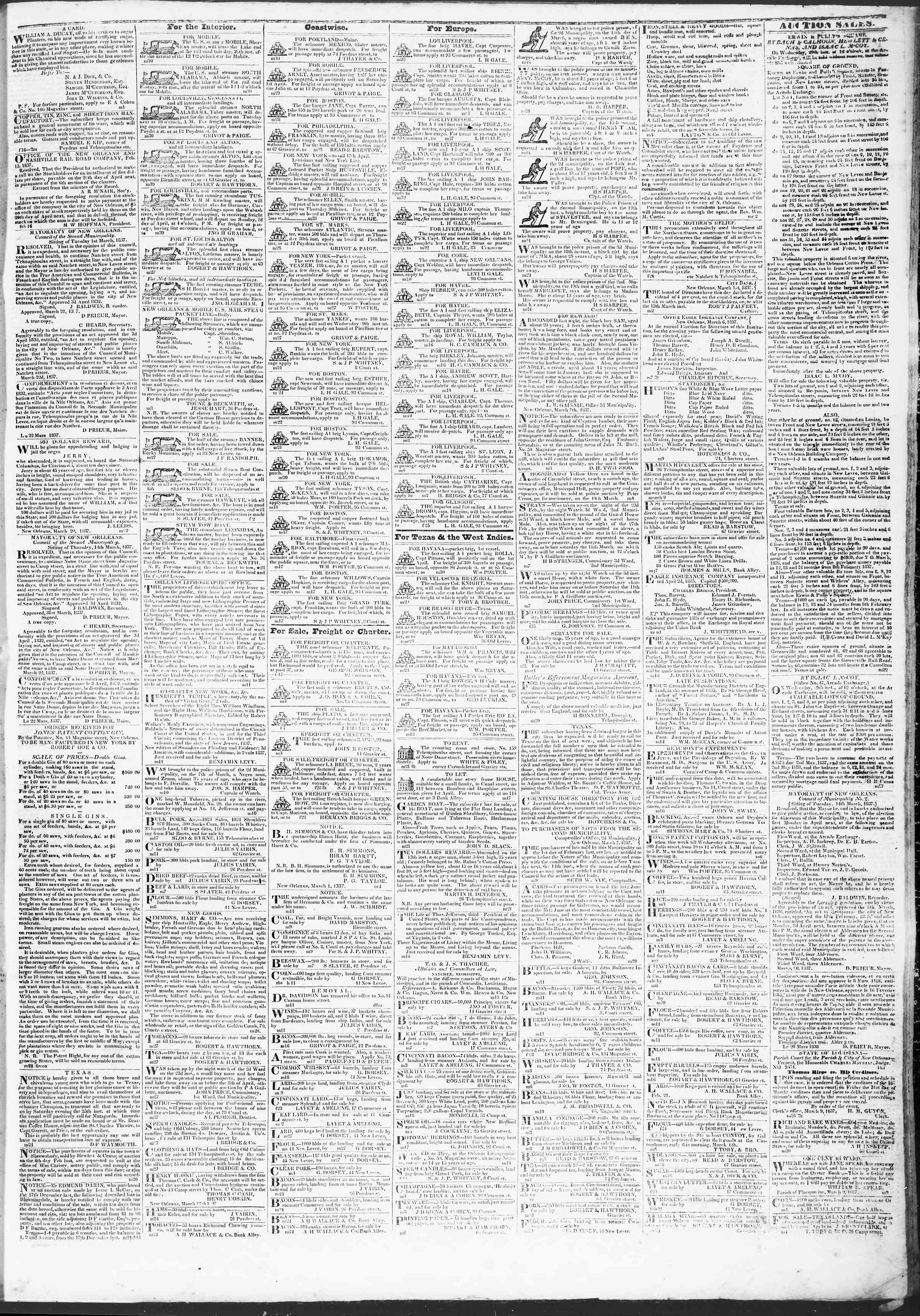 March 30, 1837 Tarihli True American Gazetesi Sayfa 3