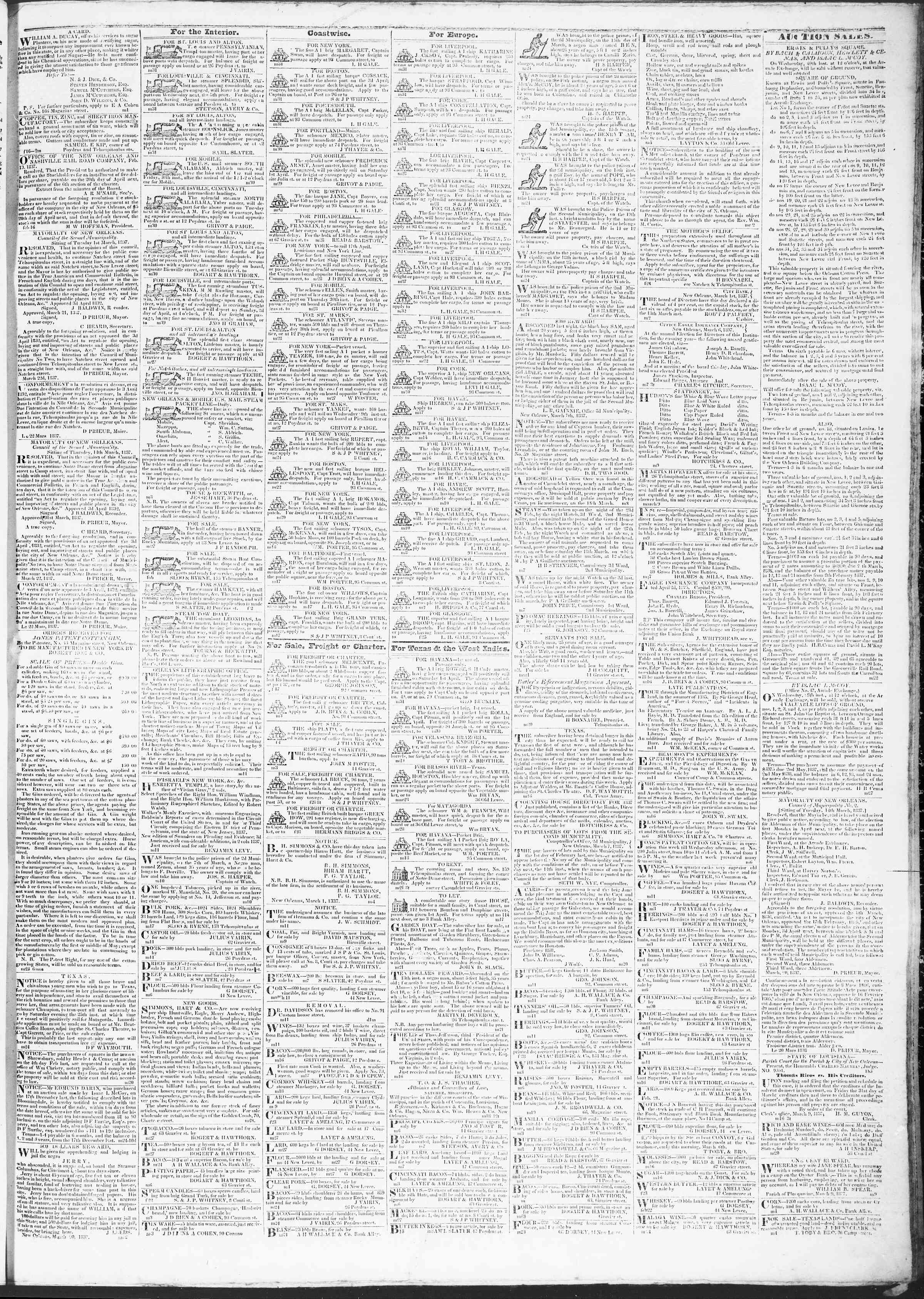 Newspaper of True American dated March 31, 1837 Page 3
