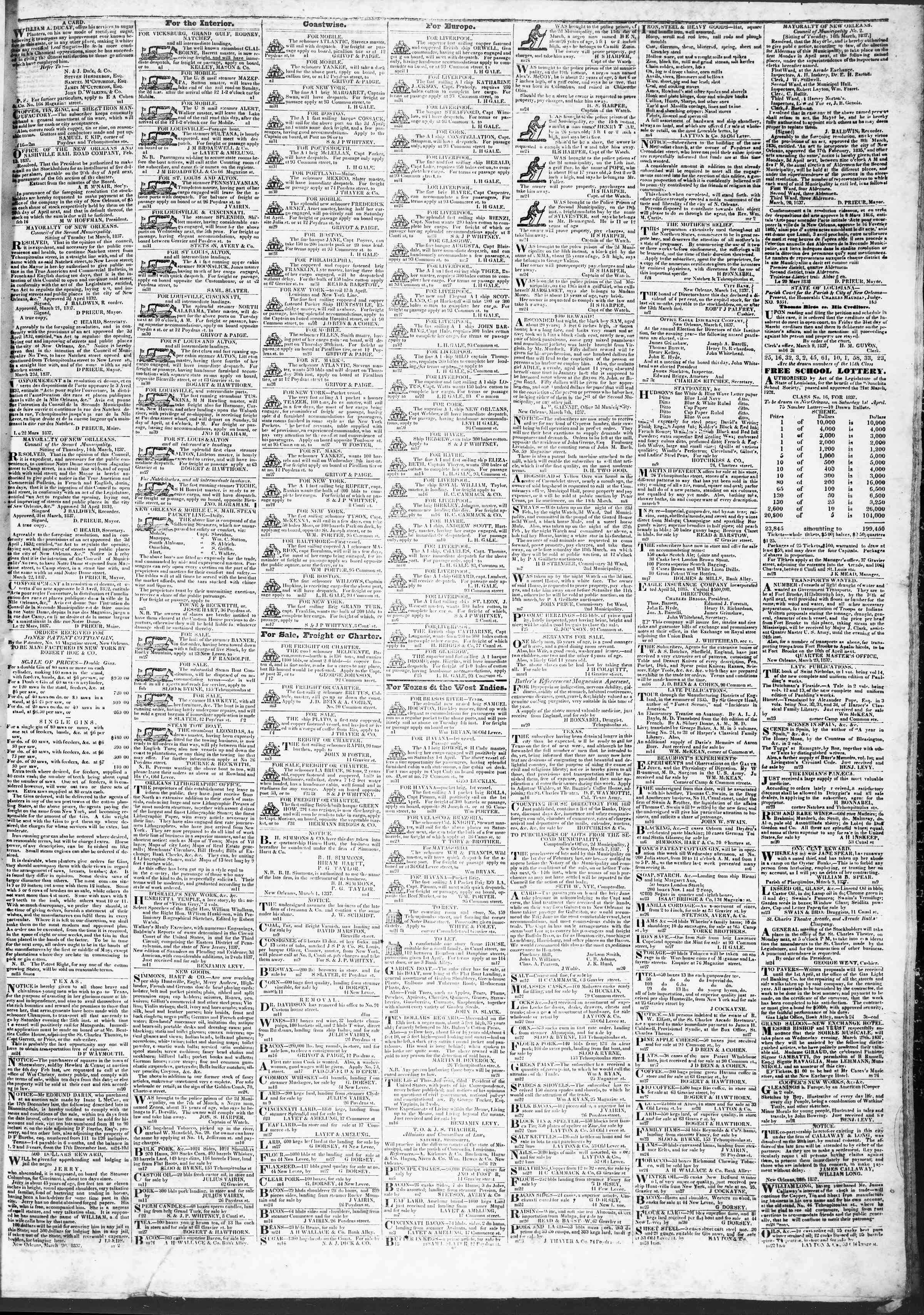 Newspaper of True American dated April 1, 1837 Page 3