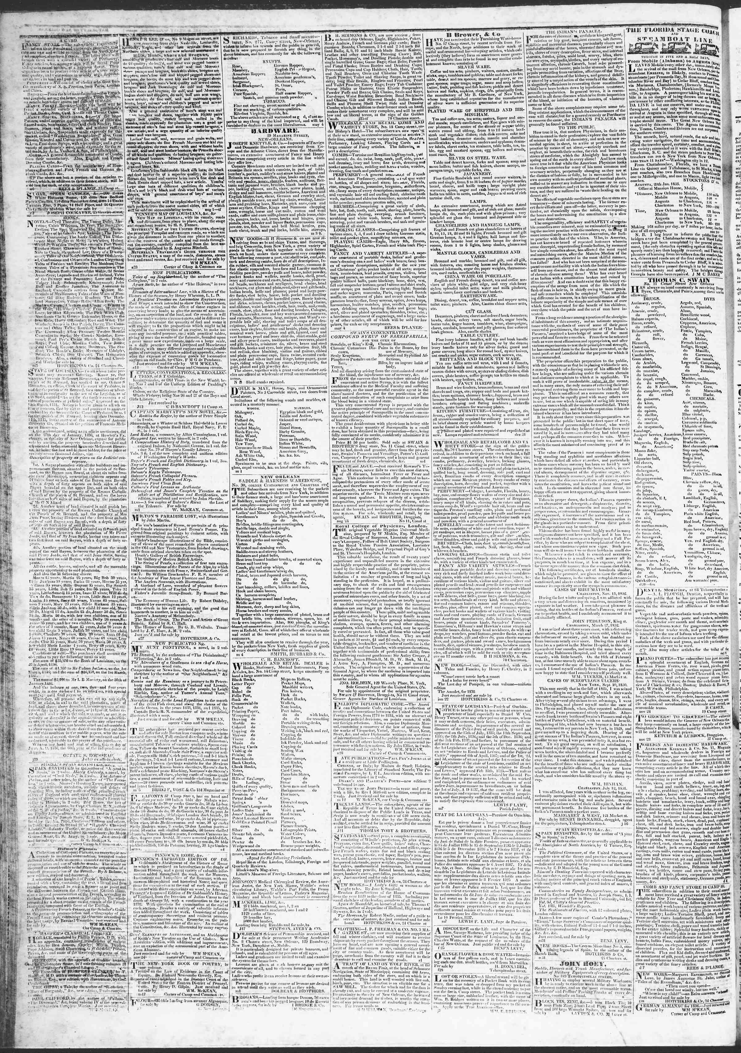 April 1, 1837 Tarihli True American Gazetesi Sayfa 4