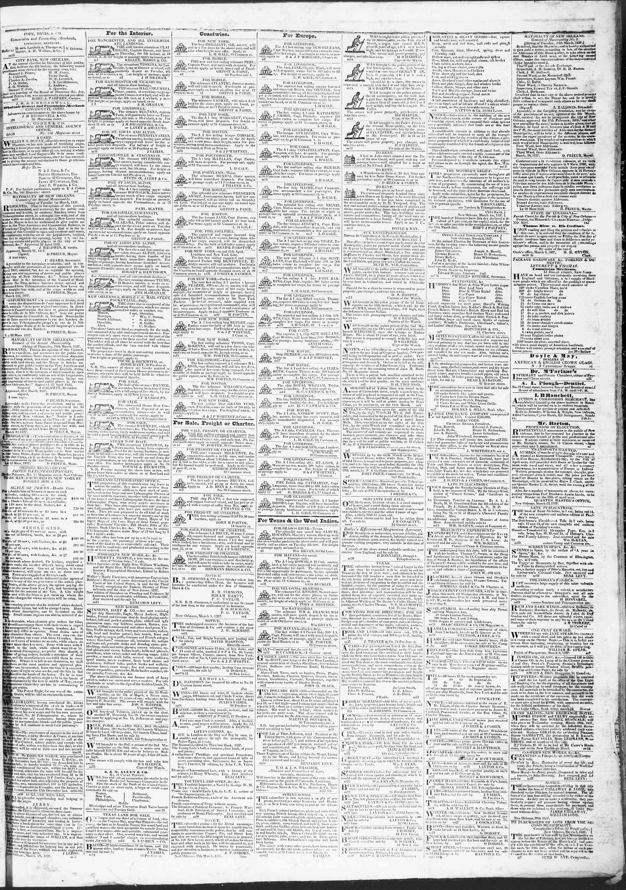 April 3, 1837 Tarihli True American Gazetesi Sayfa 3