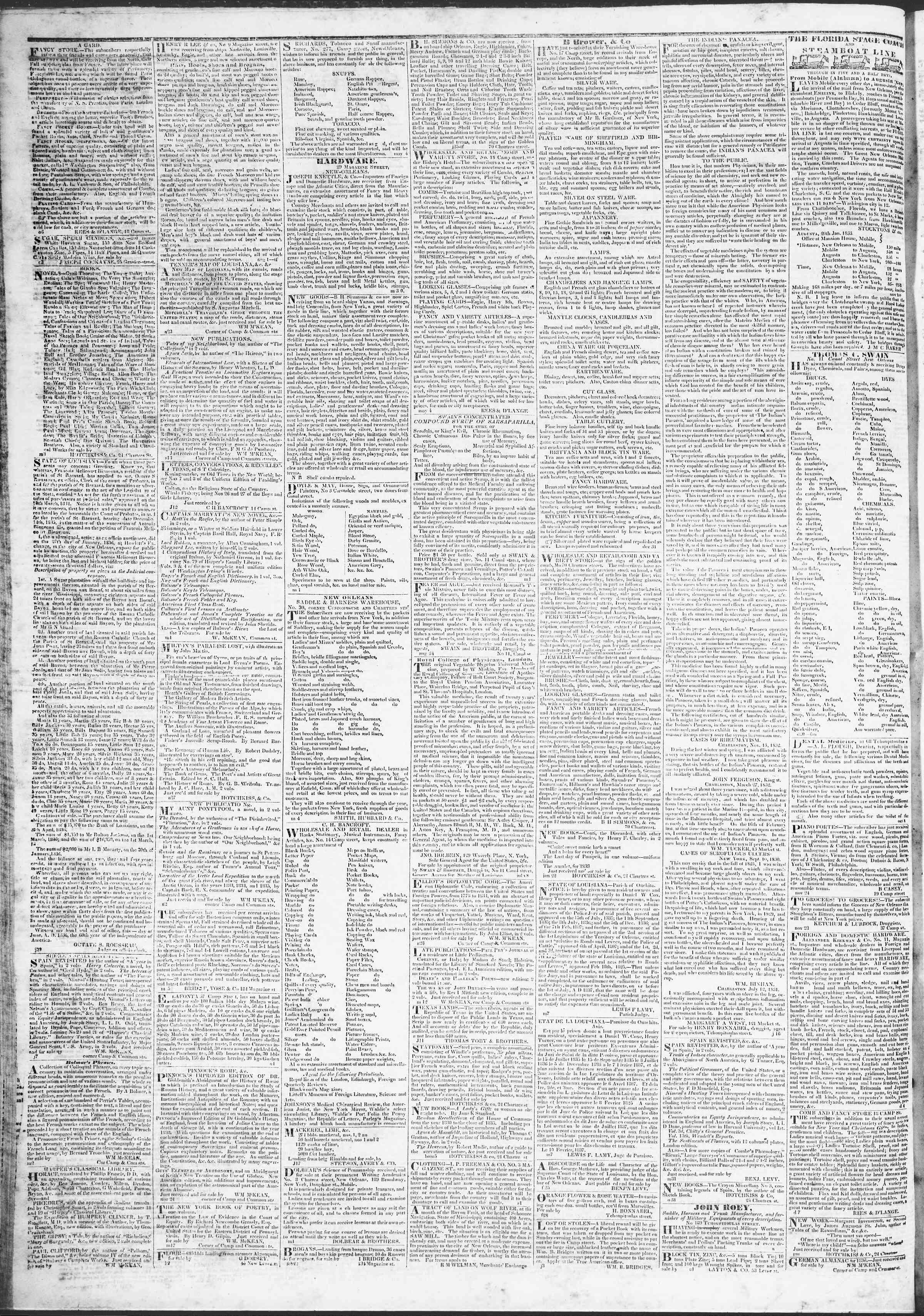 April 3, 1837 Tarihli True American Gazetesi Sayfa 4