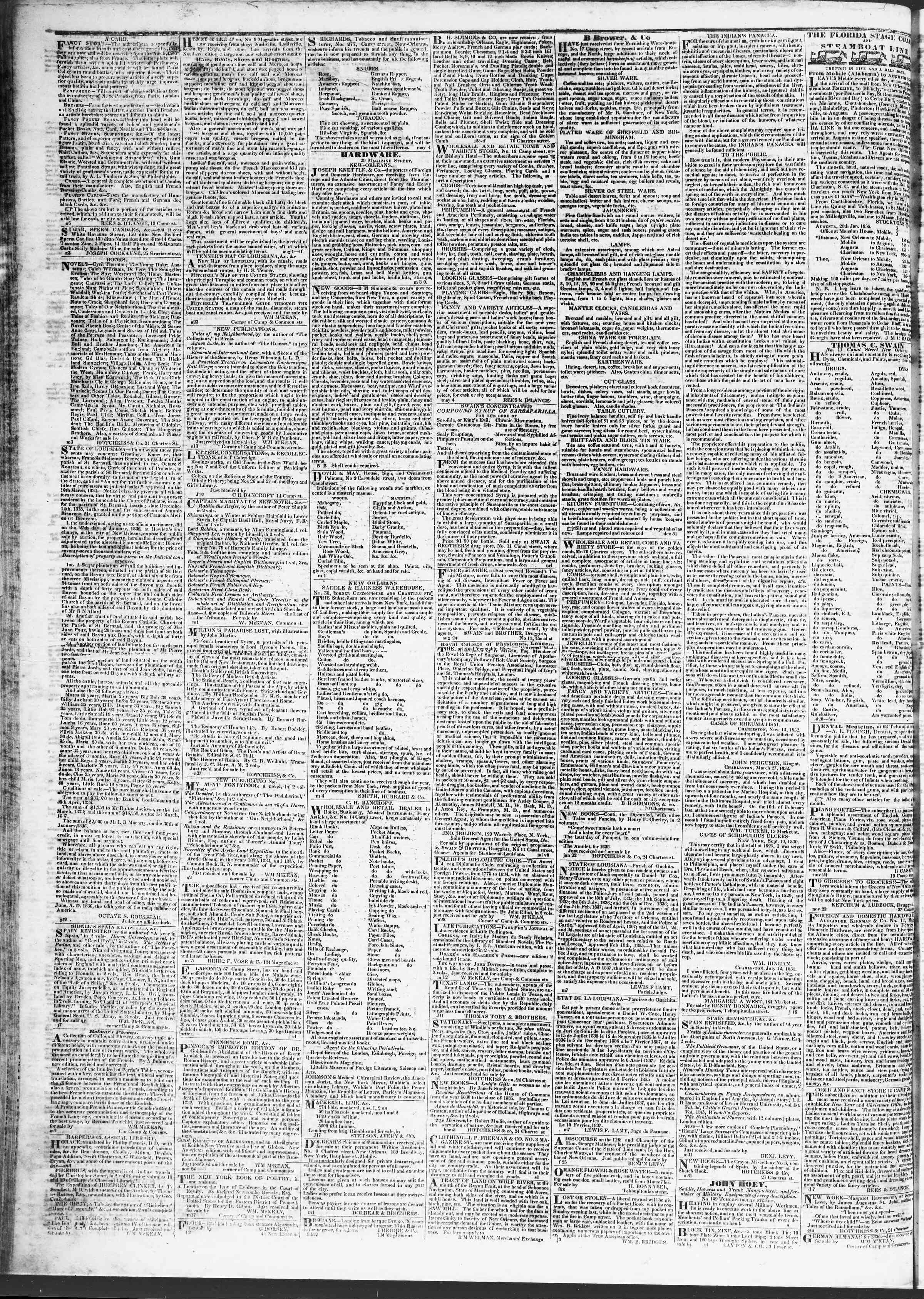 4 Nisan 1837 Tarihli True American Gazetesi Sayfa 4