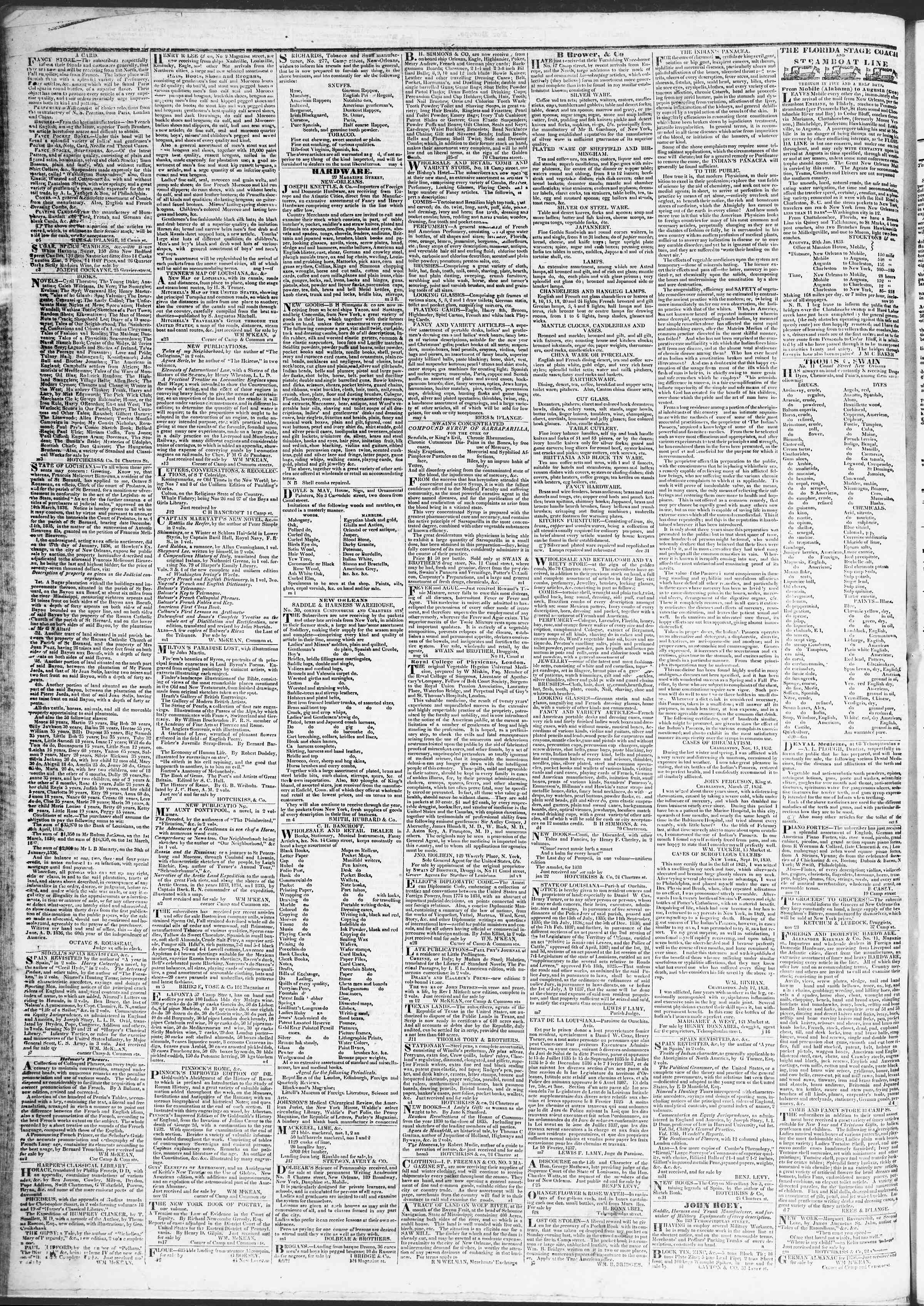 Newspaper of True American dated April 11, 1837 Page 4