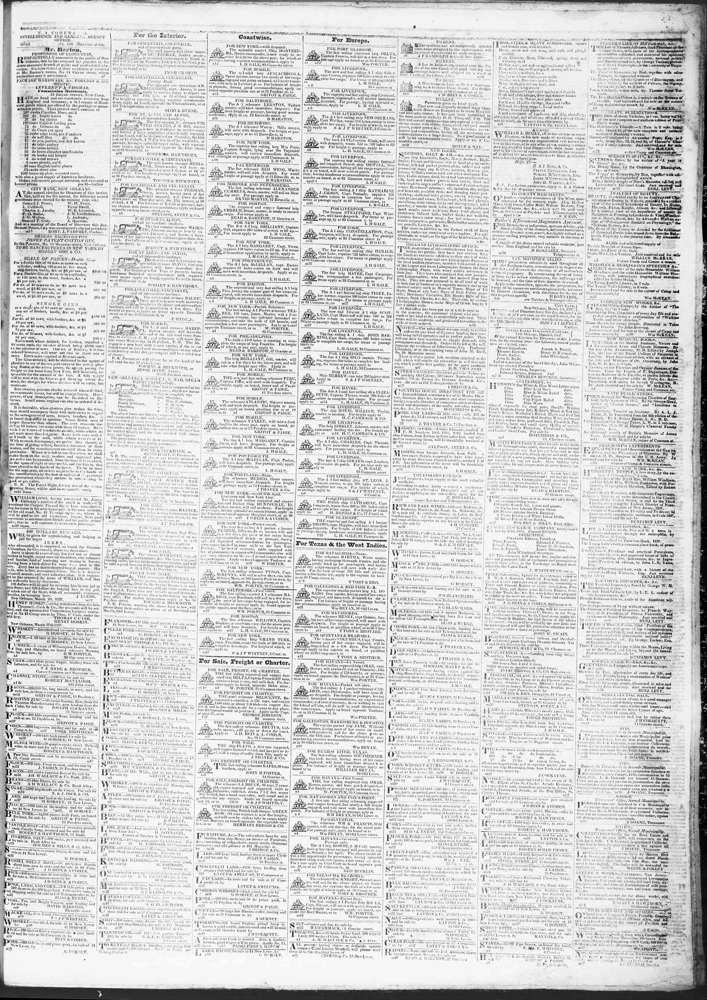 Newspaper of True American dated April 12, 1837 Page 3