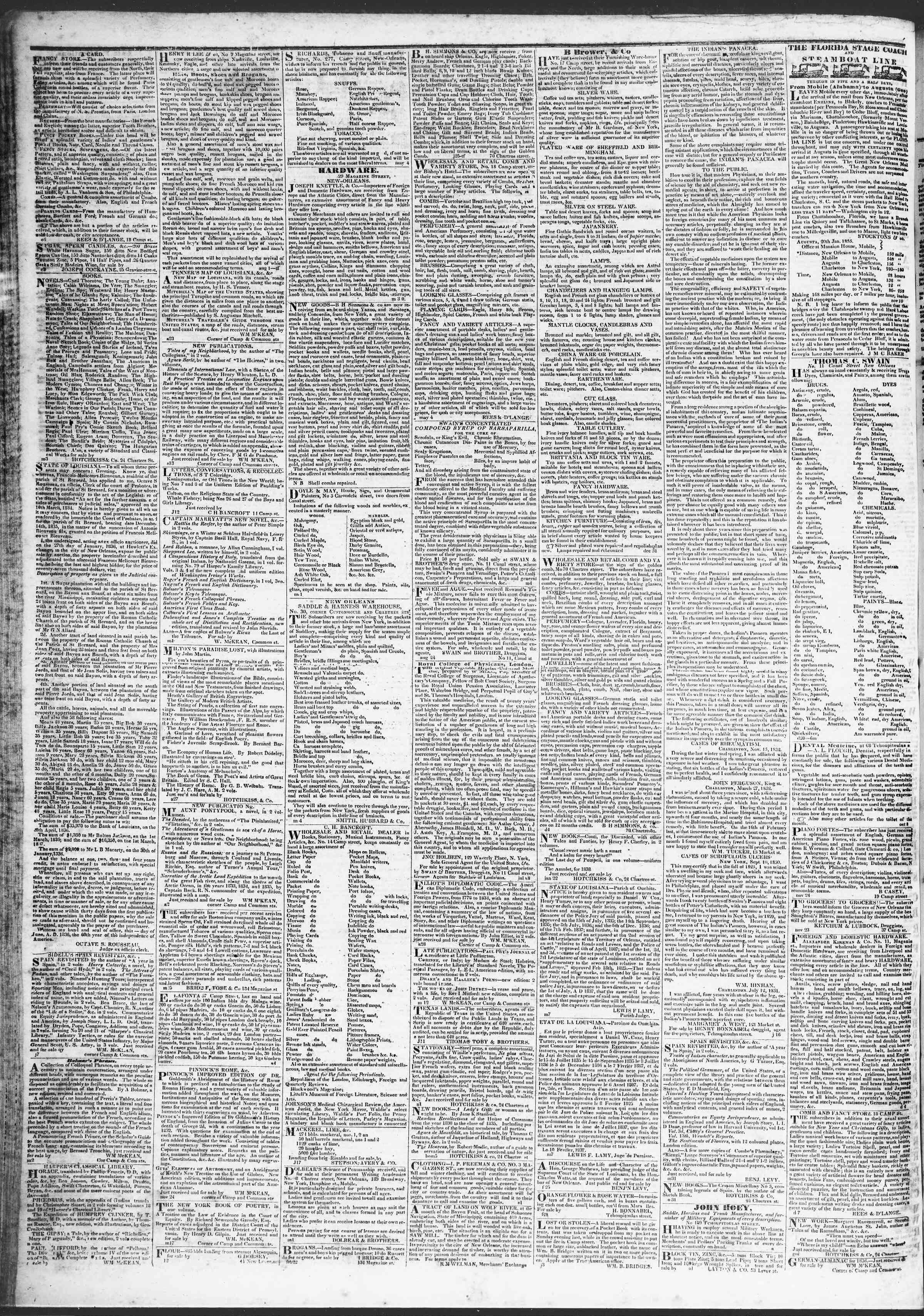 April 13, 1837 Tarihli True American Gazetesi Sayfa 4