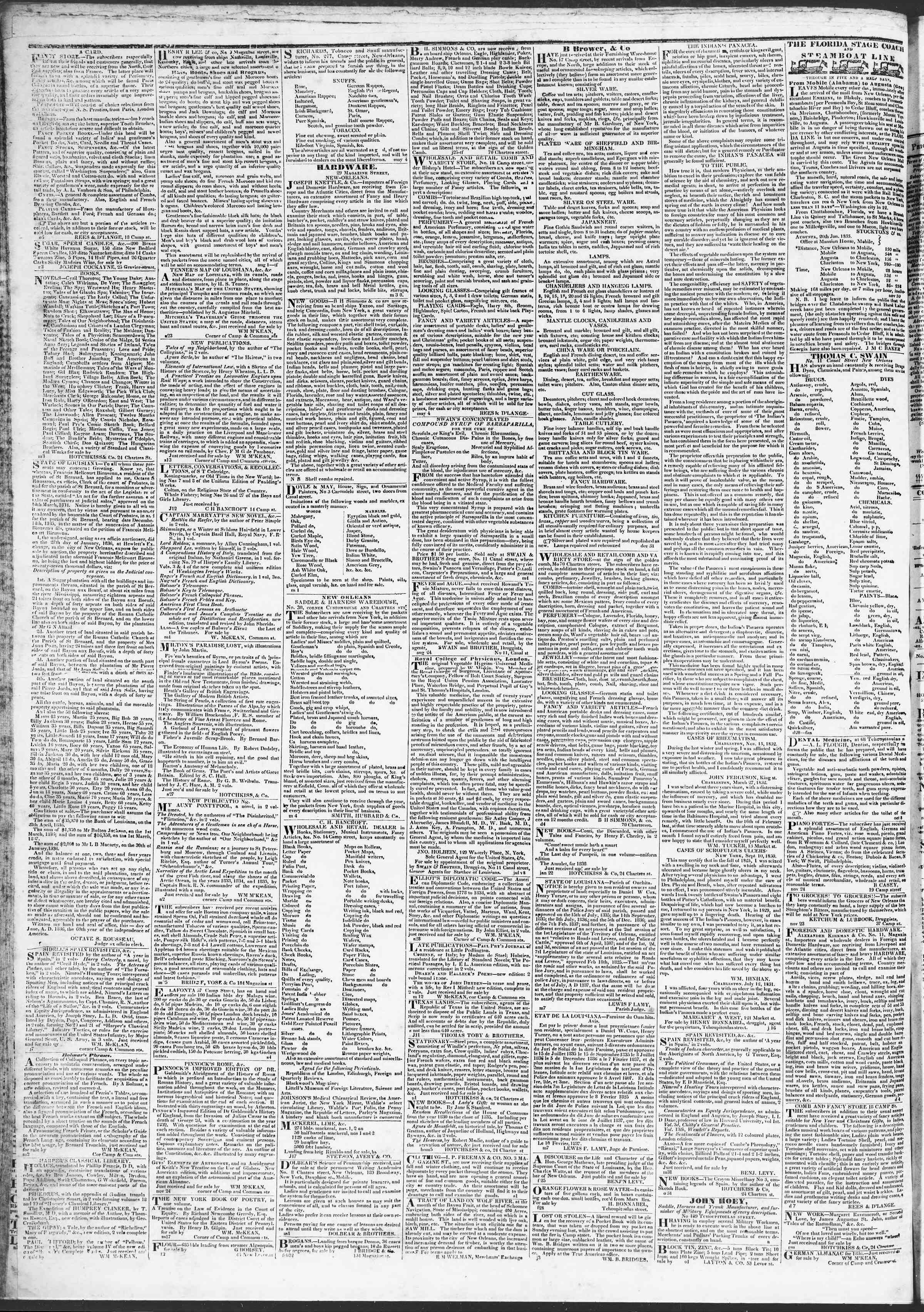 April 15, 1837 Tarihli True American Gazetesi Sayfa 4