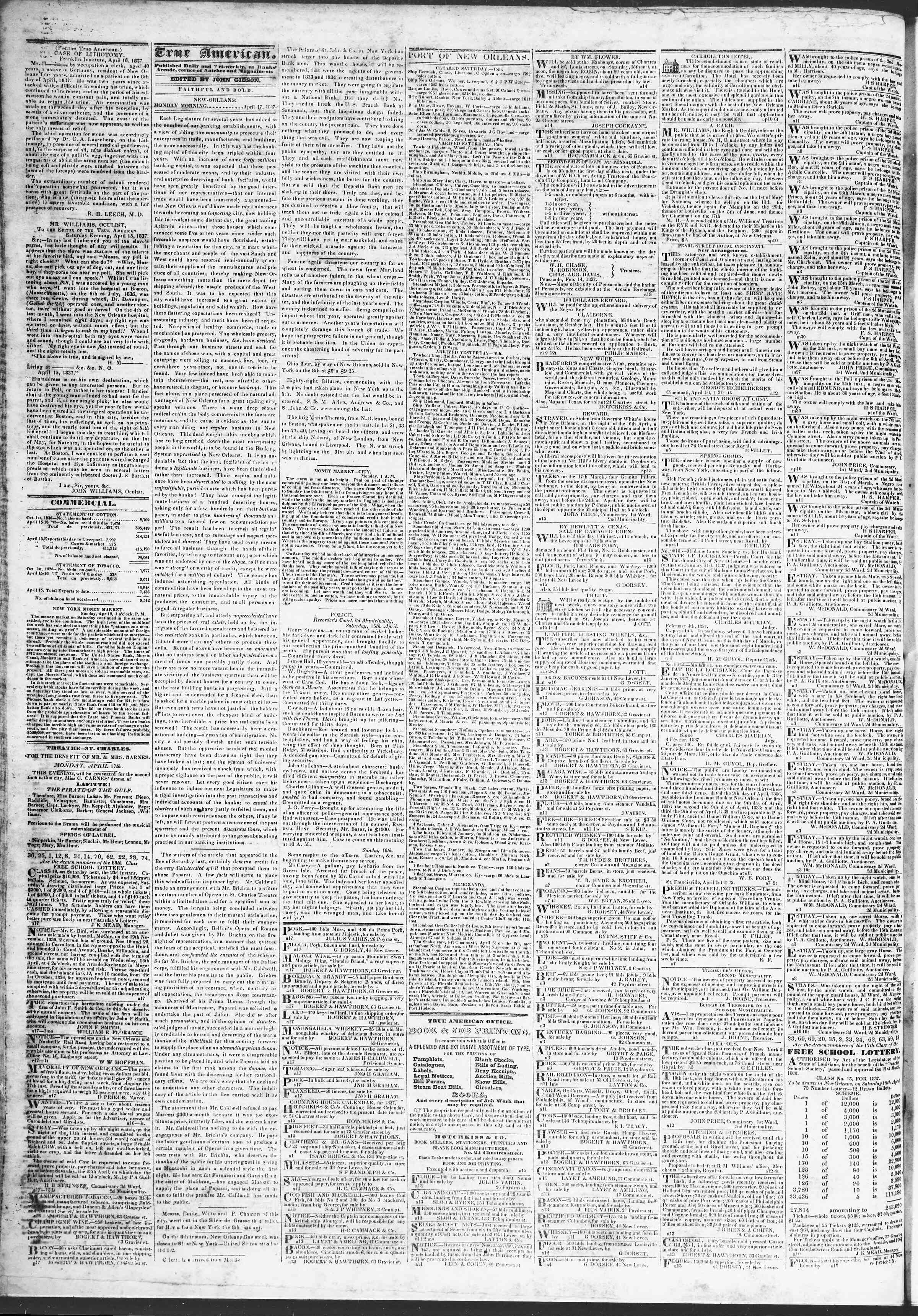 April 17, 1837 Tarihli True American Gazetesi Sayfa 2
