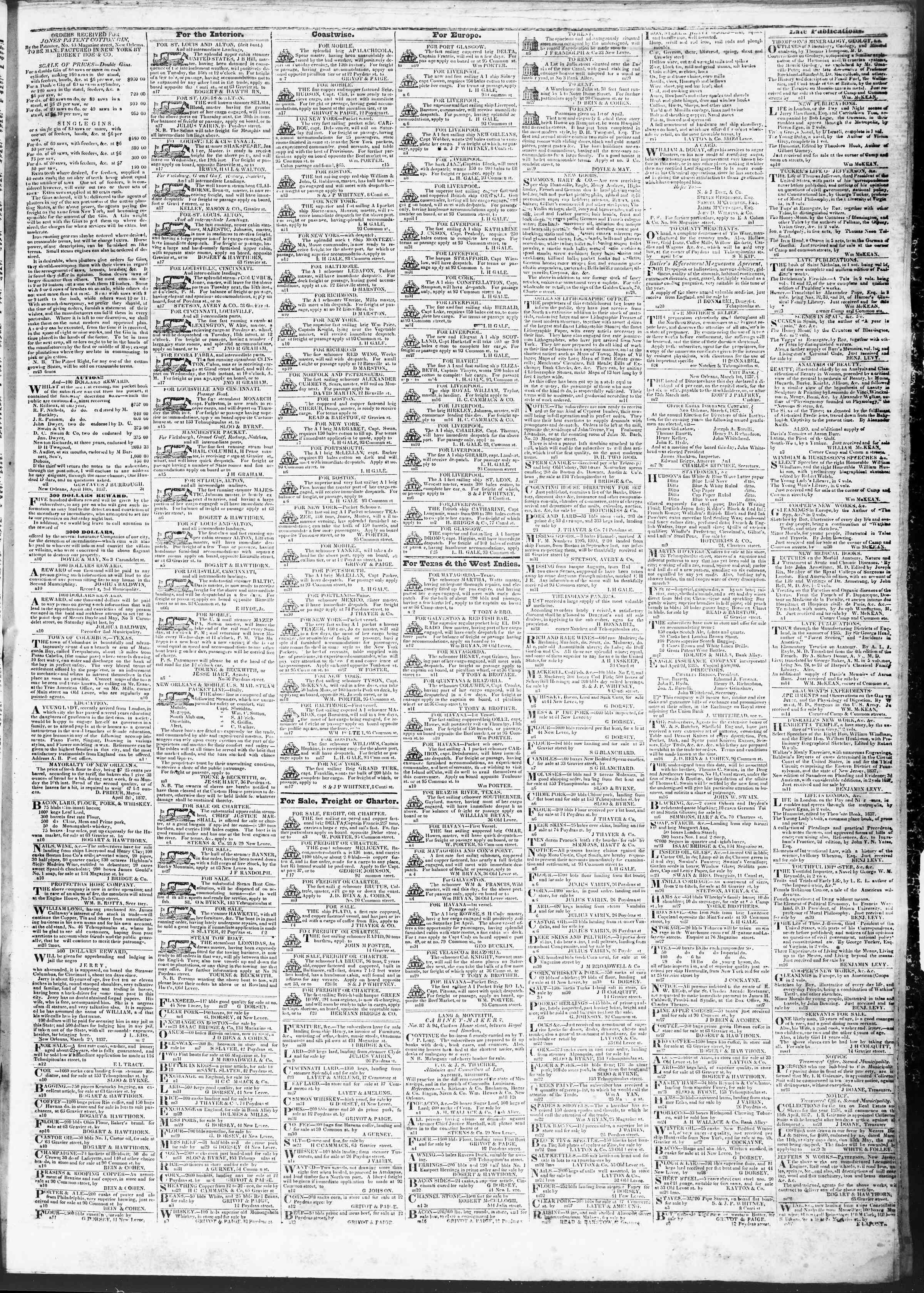 Newspaper of True American dated April 17, 1837 Page 3