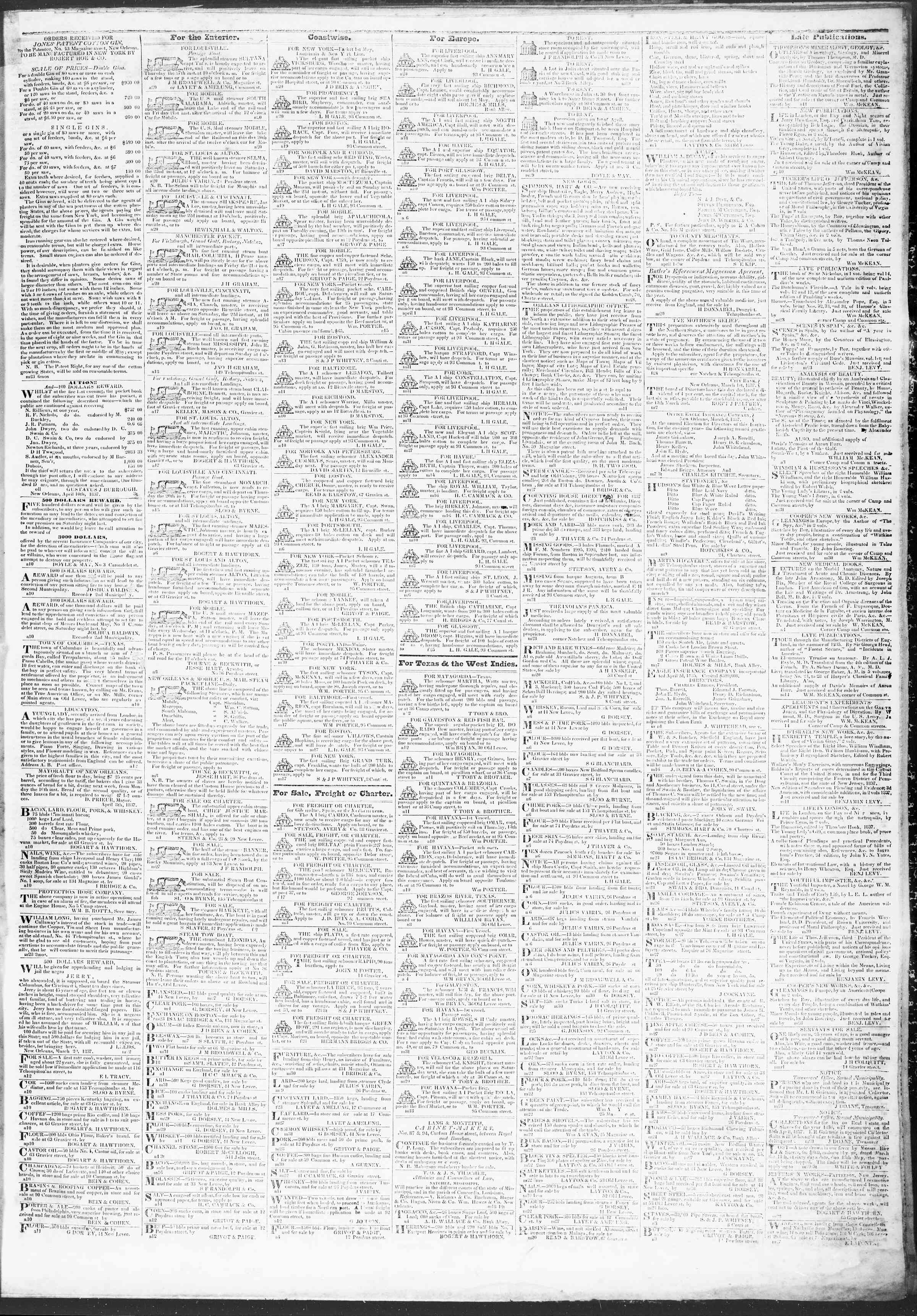 Newspaper of True American dated April 20, 1837 Page 3