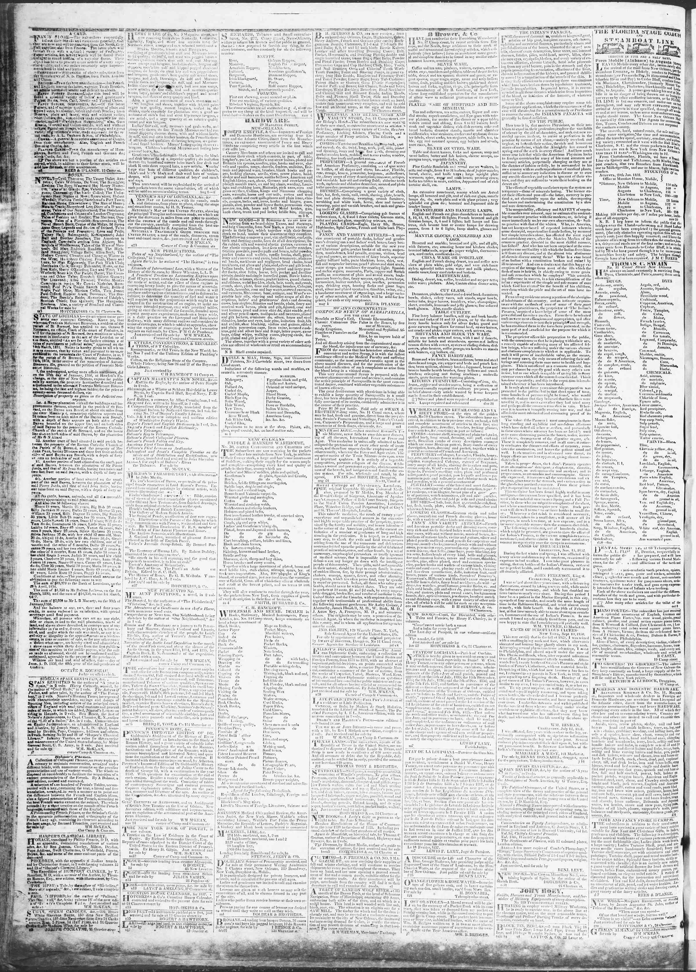 April 24, 1837 Tarihli True American Gazetesi Sayfa 3