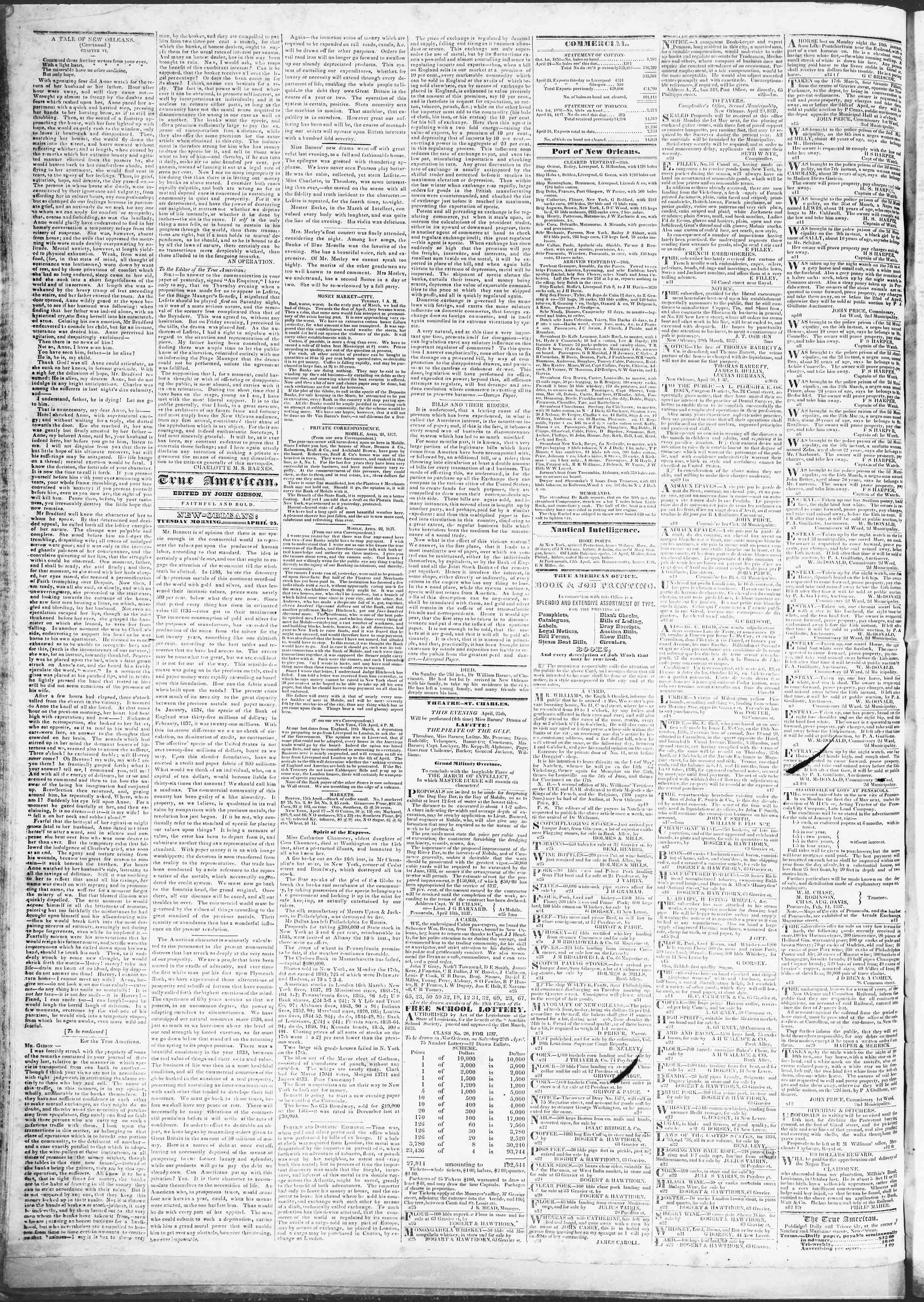 April 24, 1837 Tarihli True American Gazetesi Sayfa 5