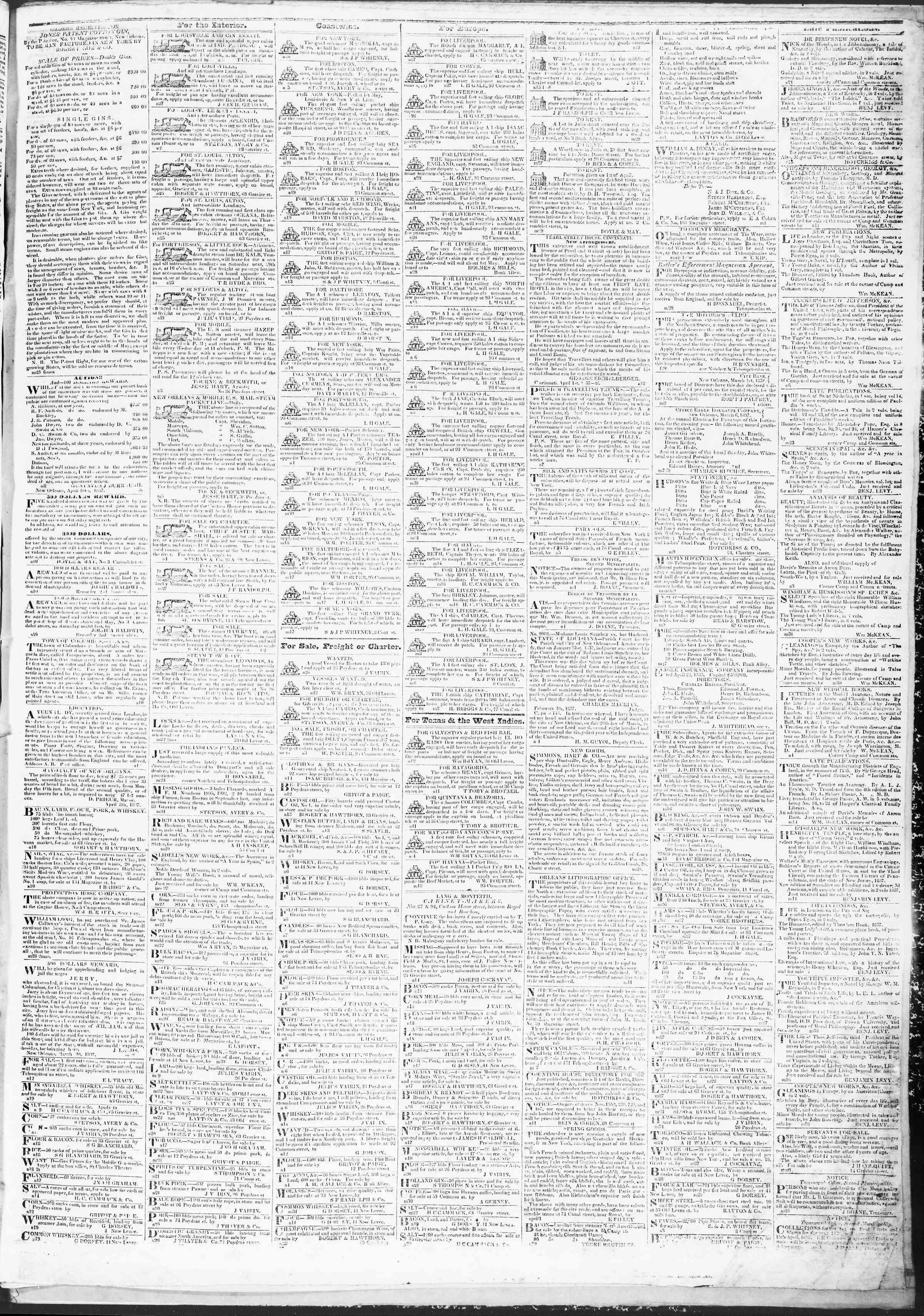 April 27, 1837 Tarihli True American Gazetesi Sayfa 3