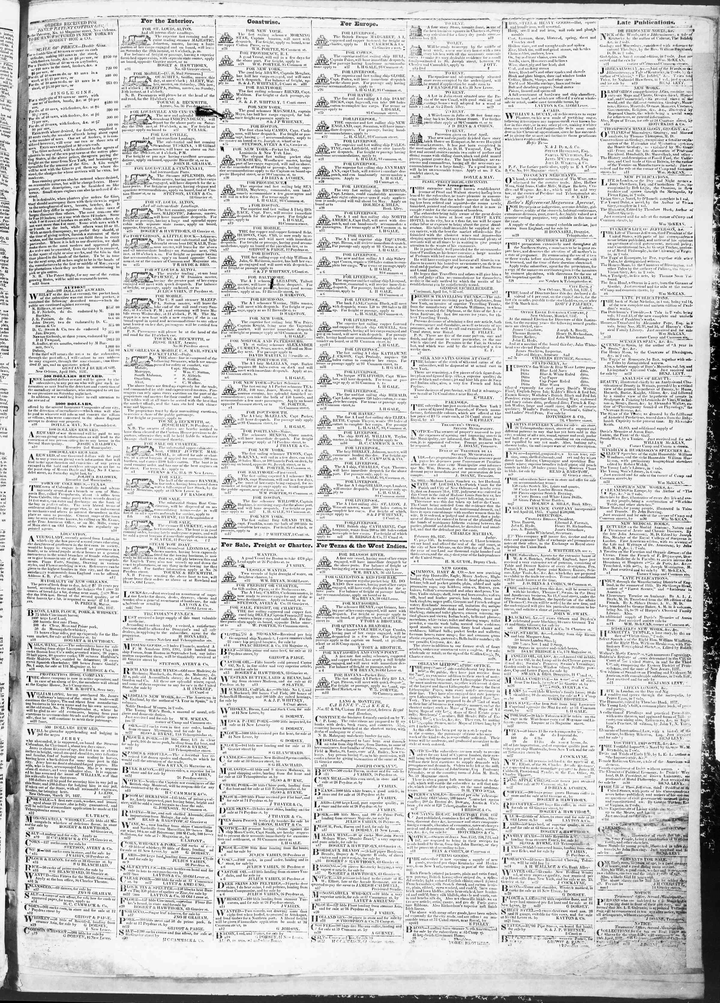 April 28, 1837 Tarihli True American Gazetesi Sayfa 3