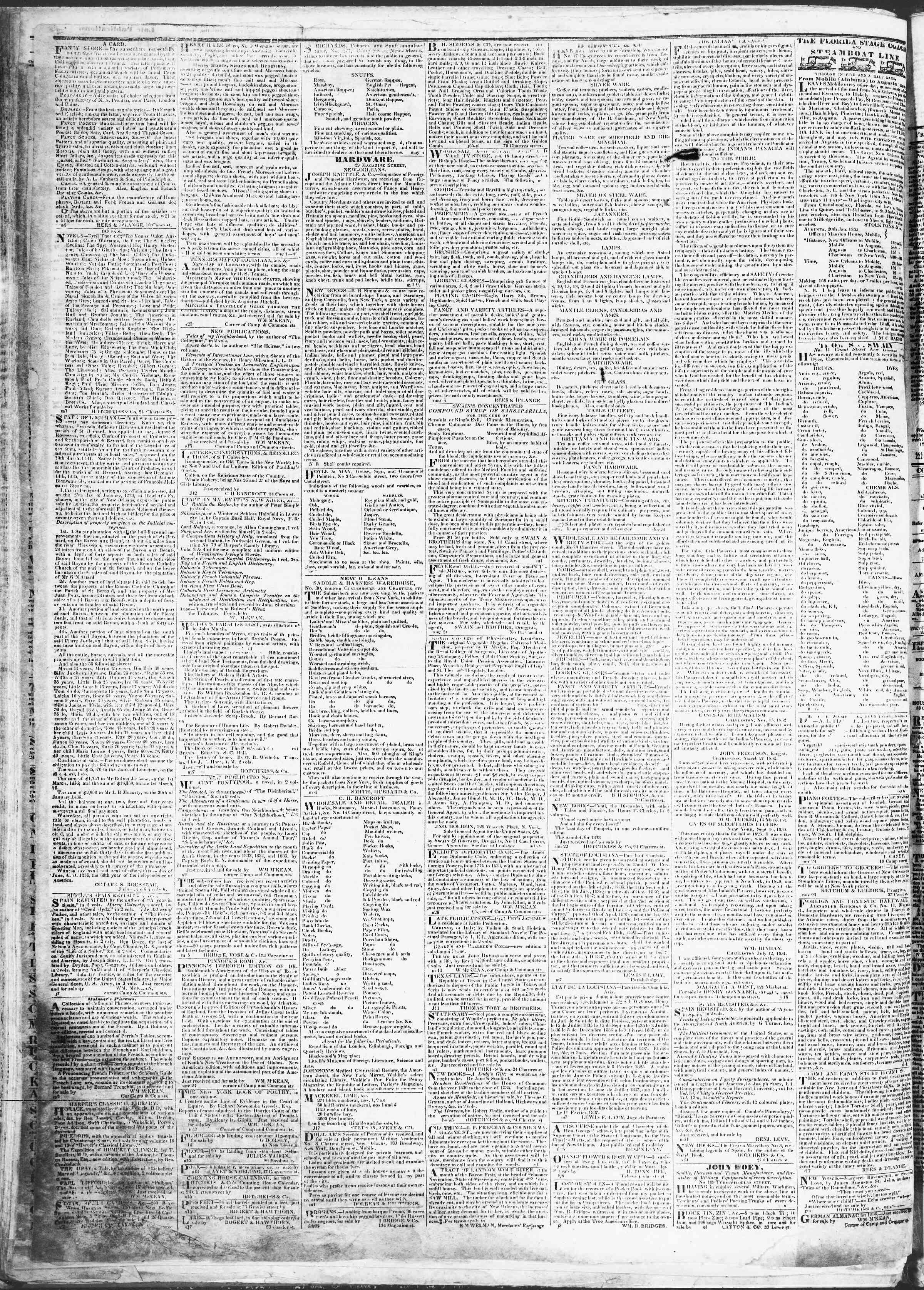 April 28, 1837 Tarihli True American Gazetesi Sayfa 4